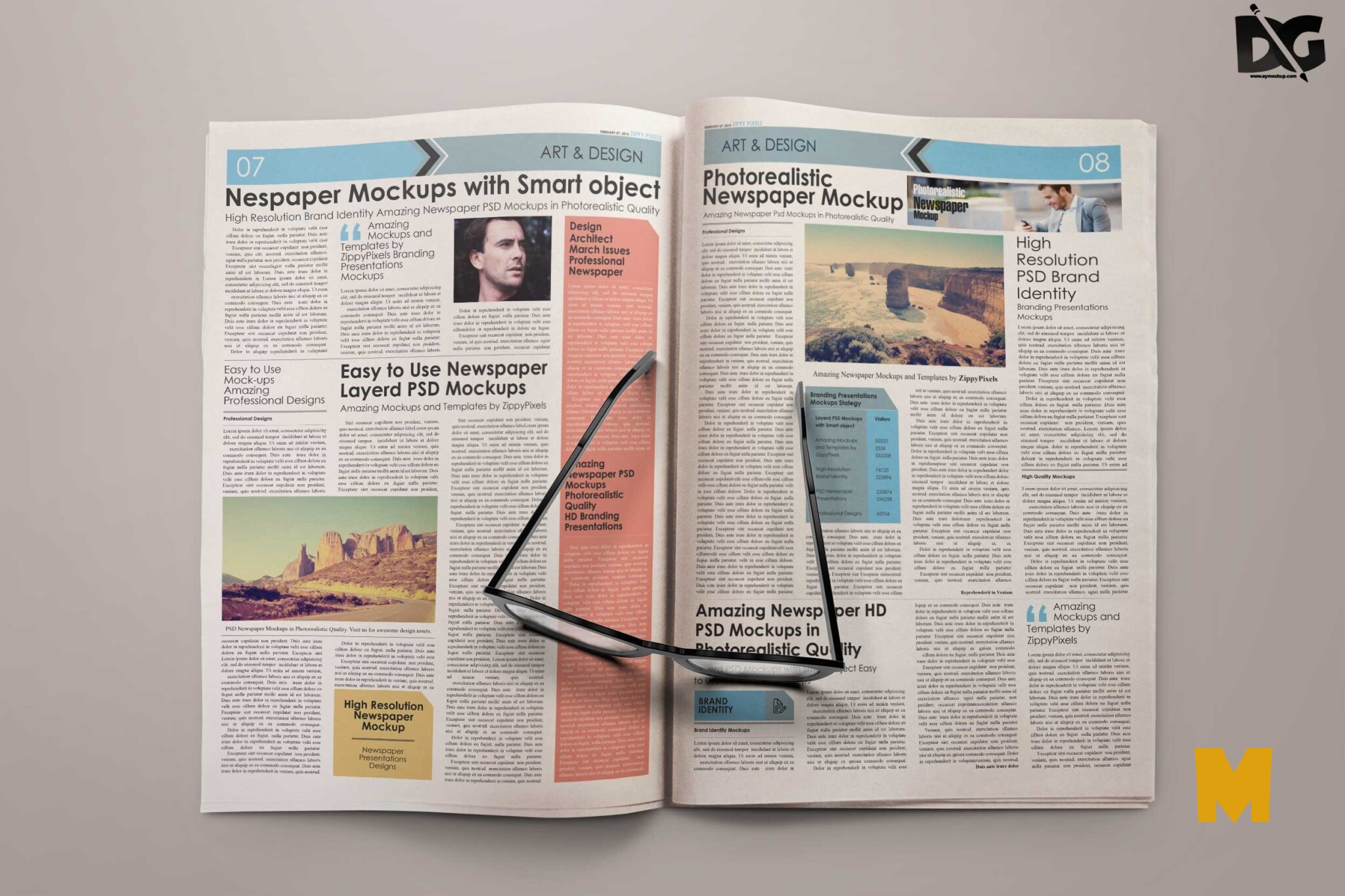 Mock-up Newspaper