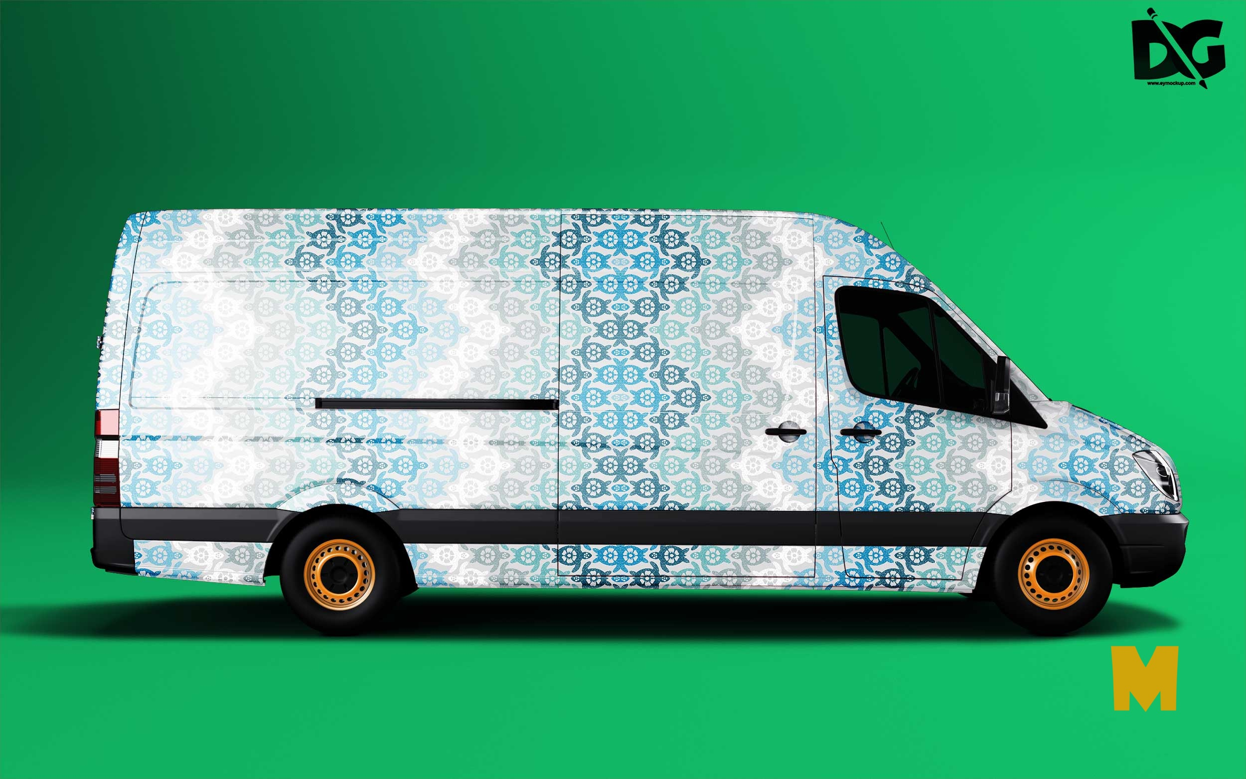 Free Mock-up Van Wrap mockup