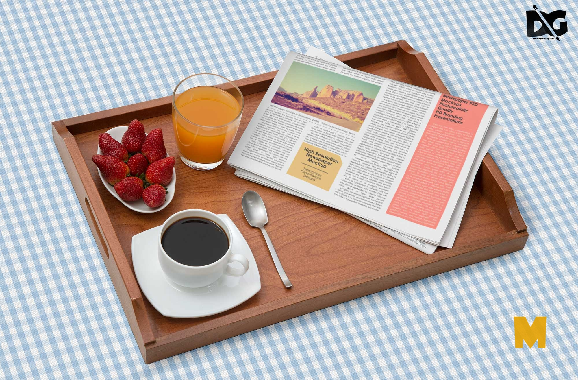 Tea Newspaper Mockup