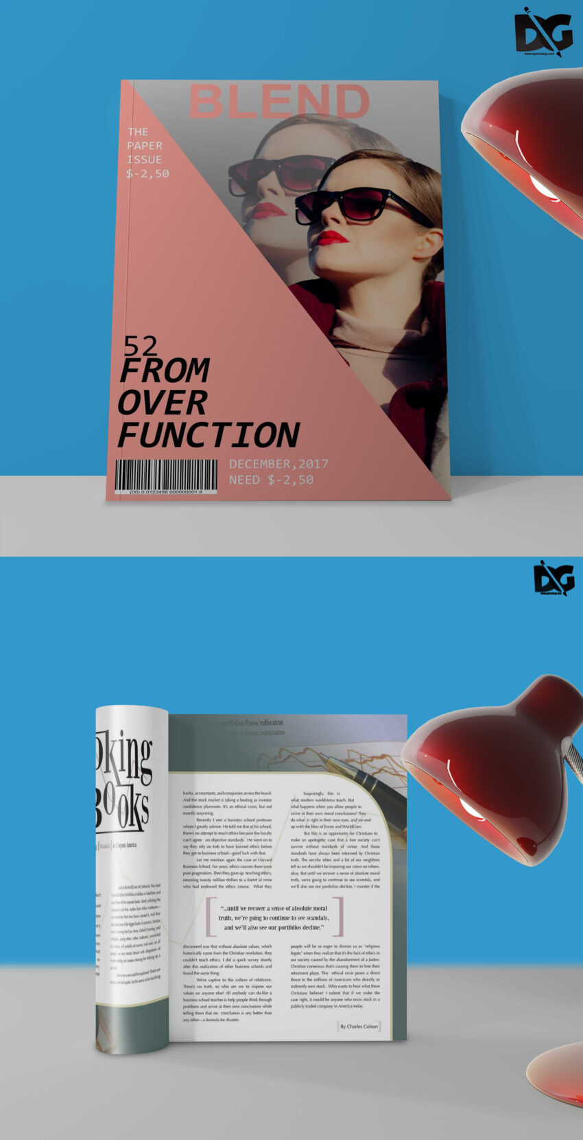 Free PSD Amazing Magazine Cover Design Mockups (1)