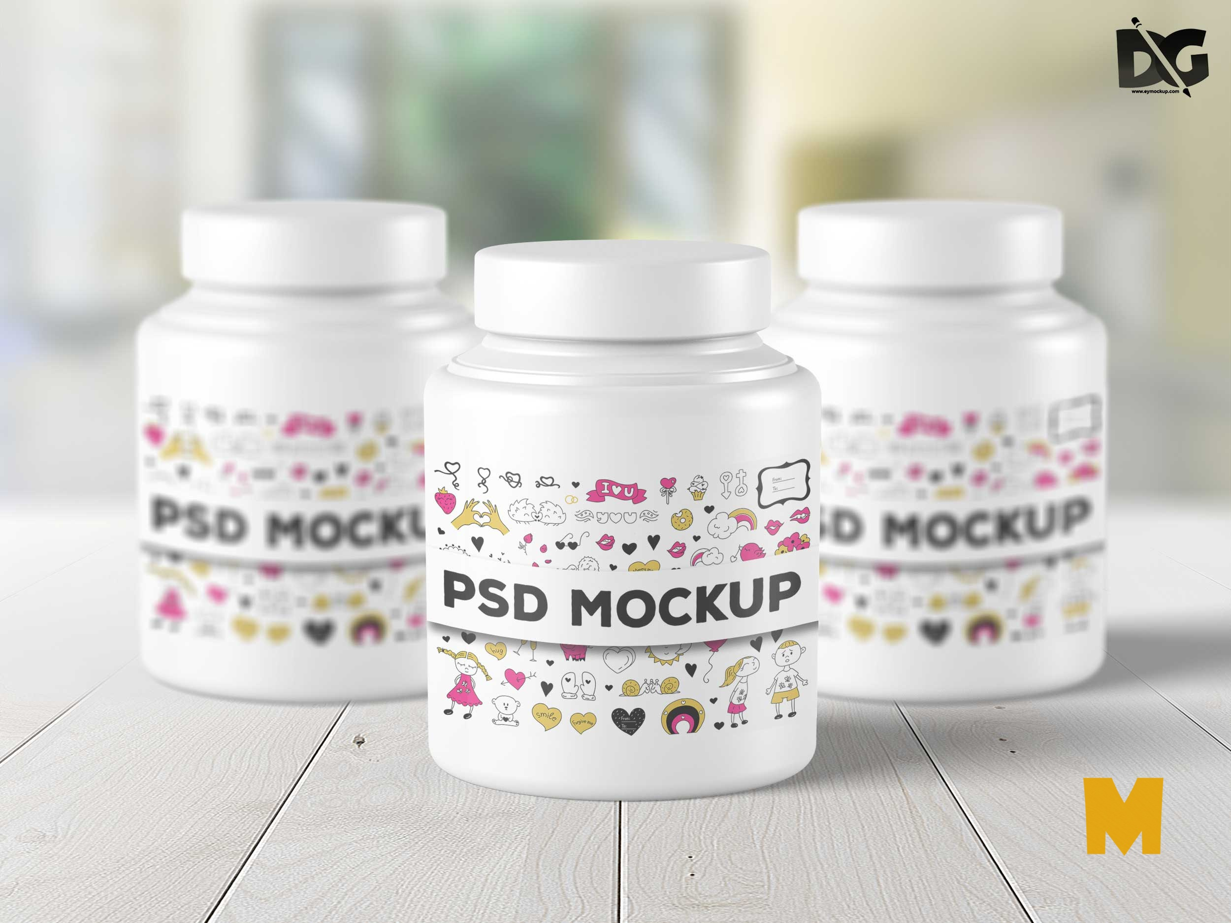 Free PSD Product Bottles Design Mockup Presentation