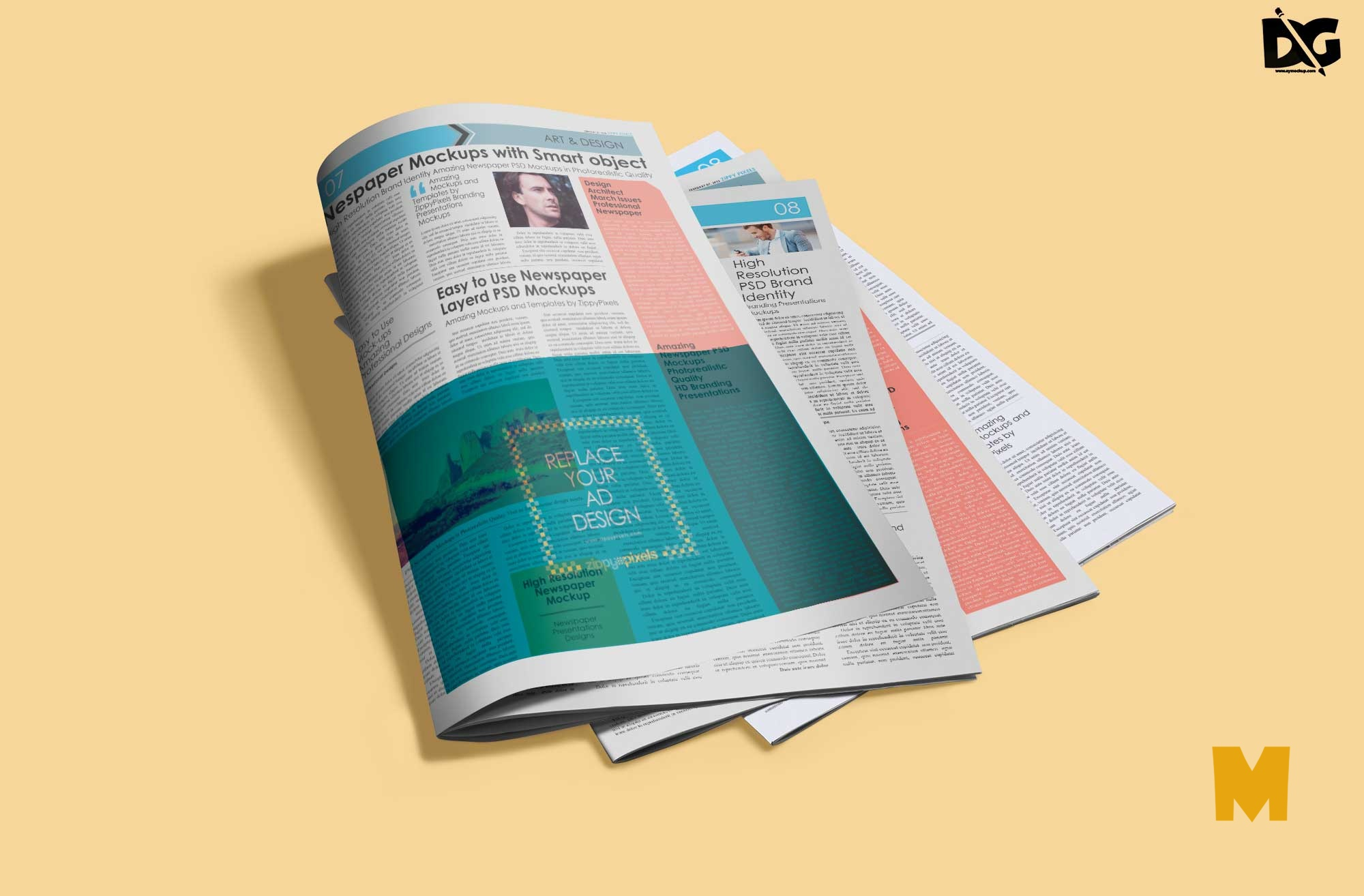 Newspaper Magazine Mockup