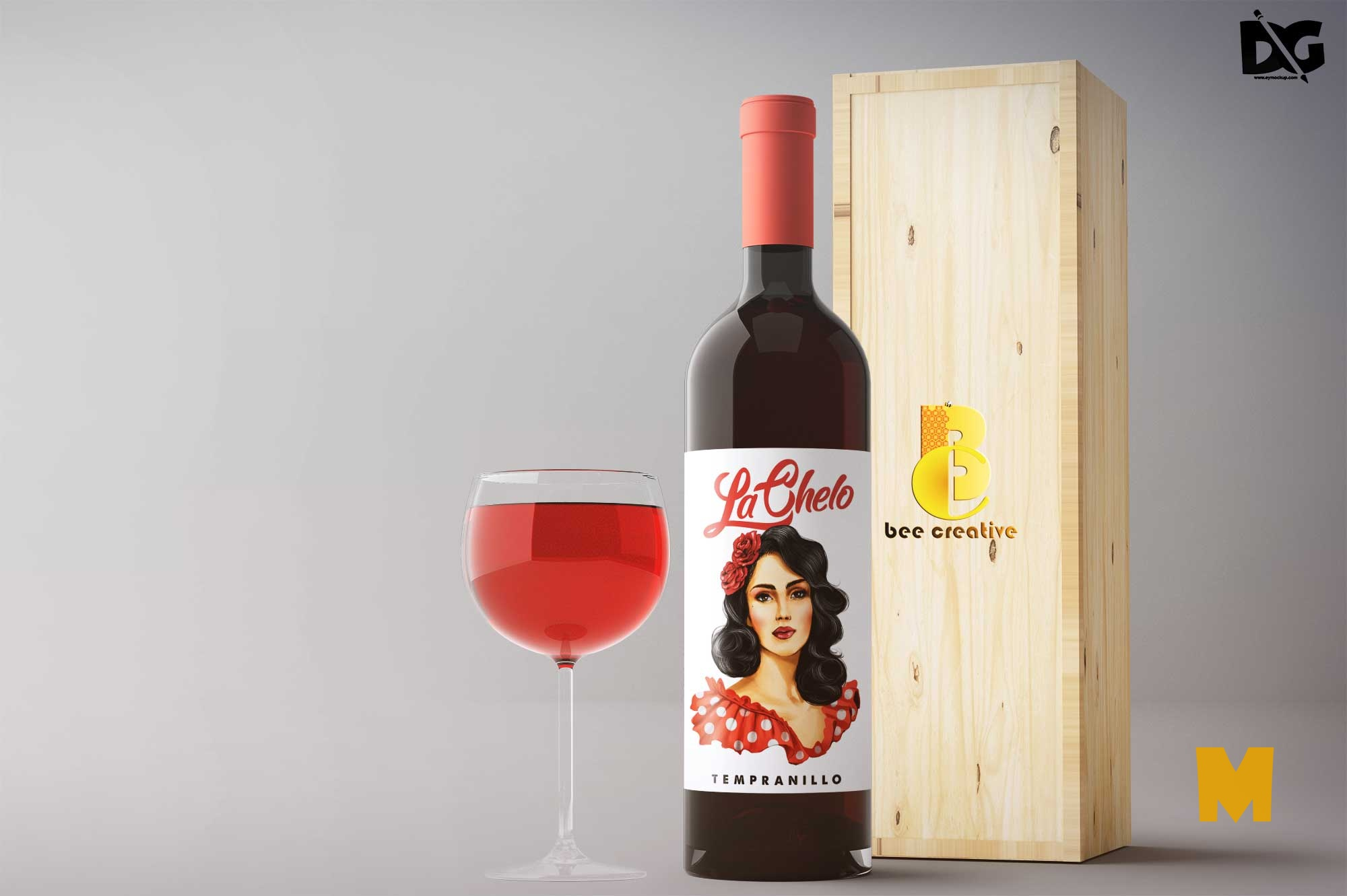 Wine Packaging Mockup