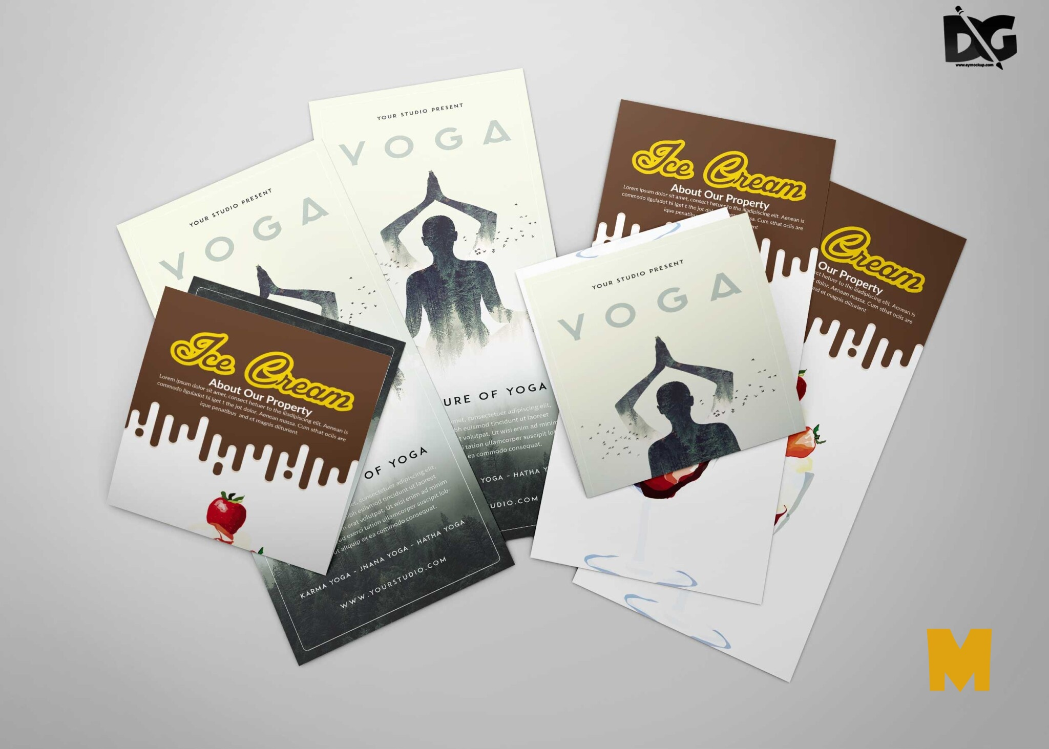 Free Yoga DL Flyer PSD Mockup