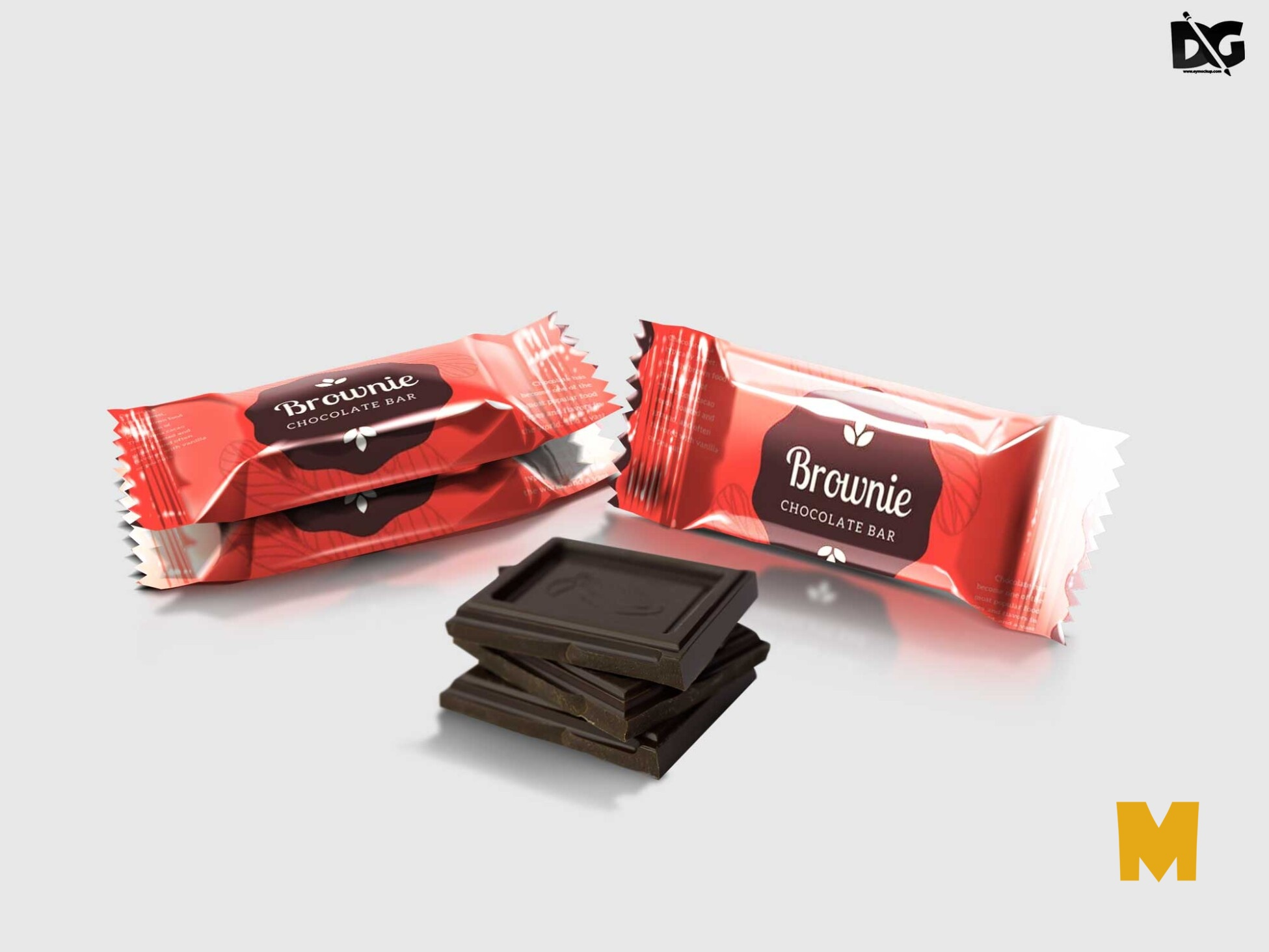 Chocolate Pouch Mockup