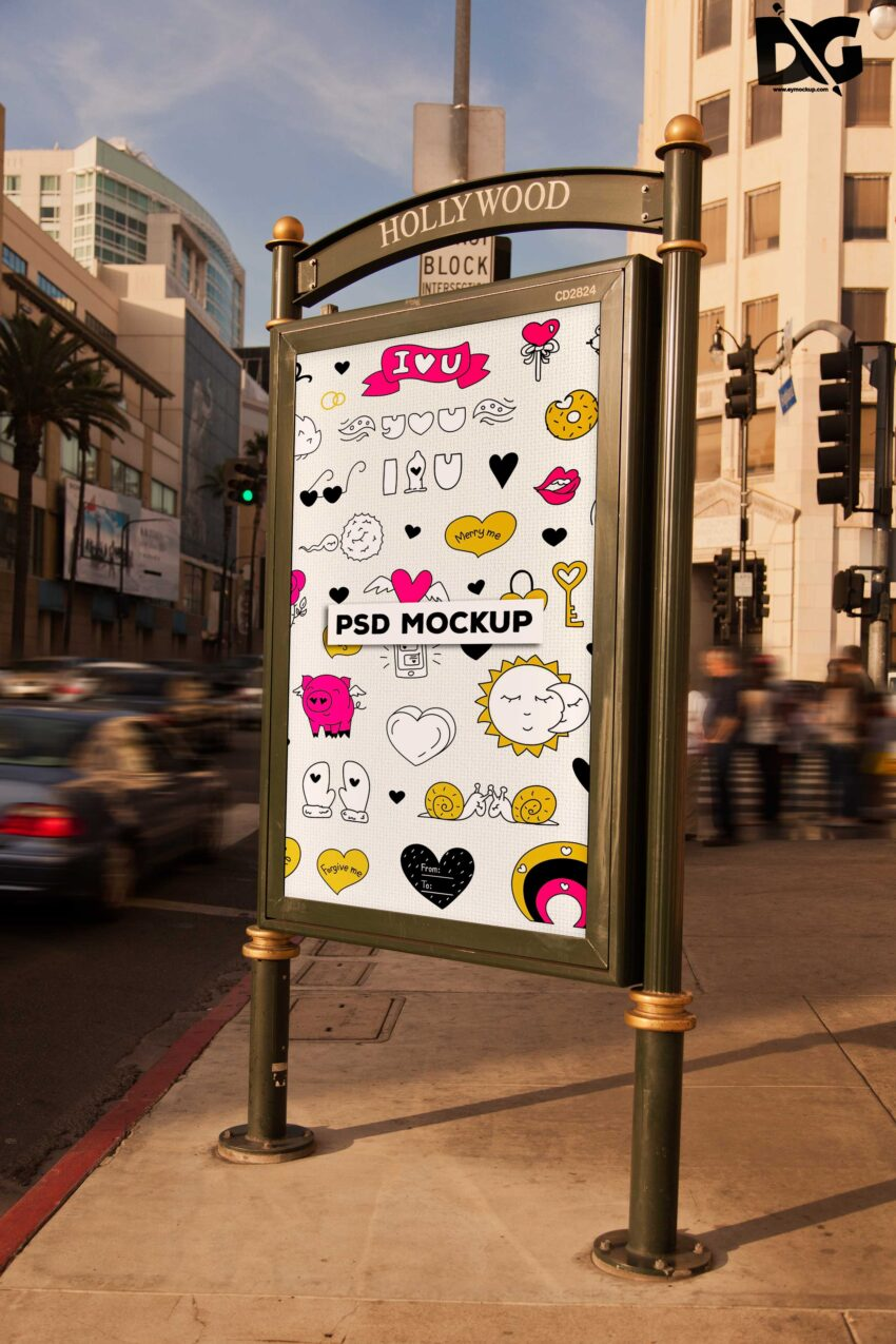 Vertical Billboard Mockup