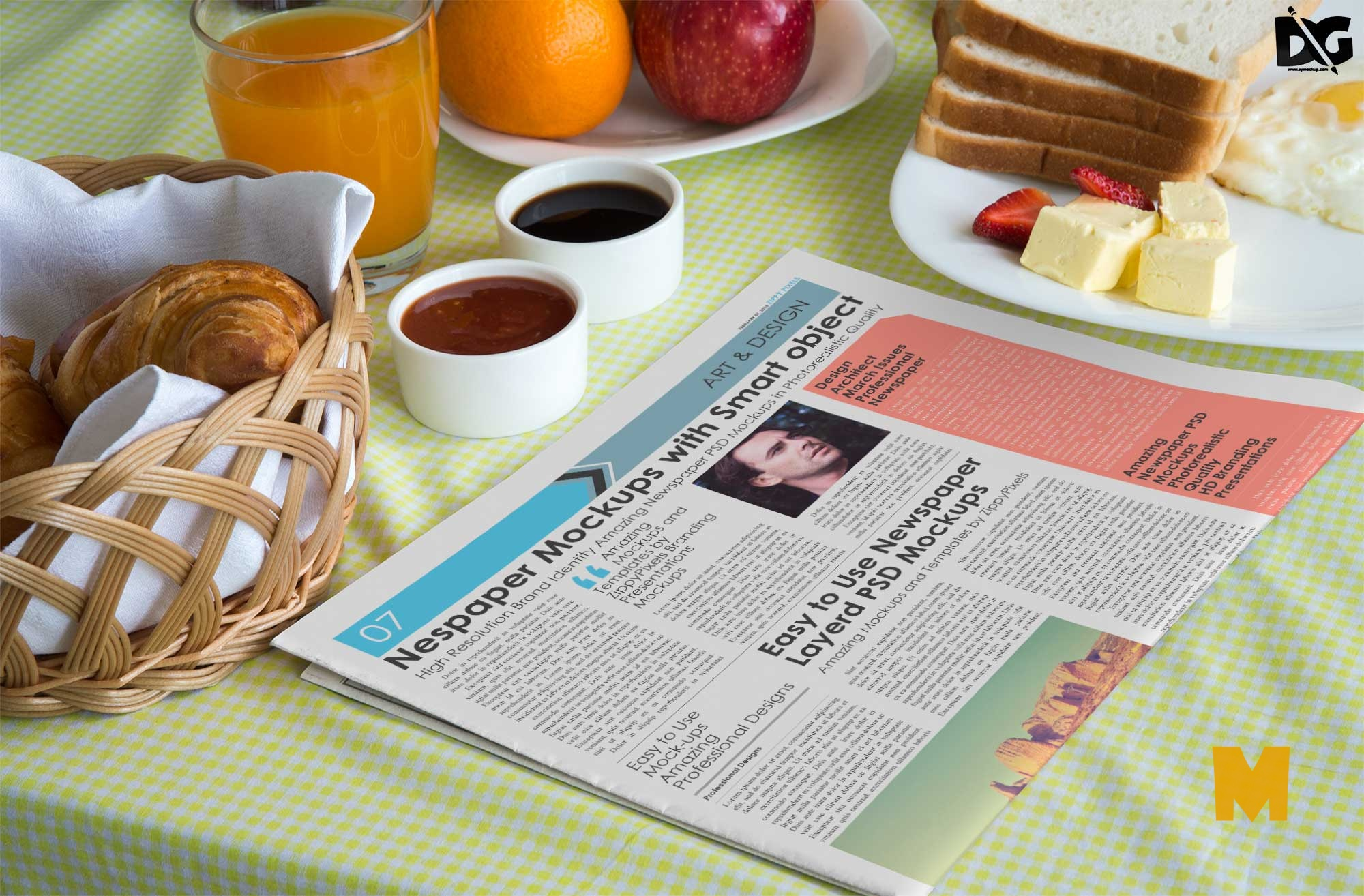 Newspaper Design Mockup