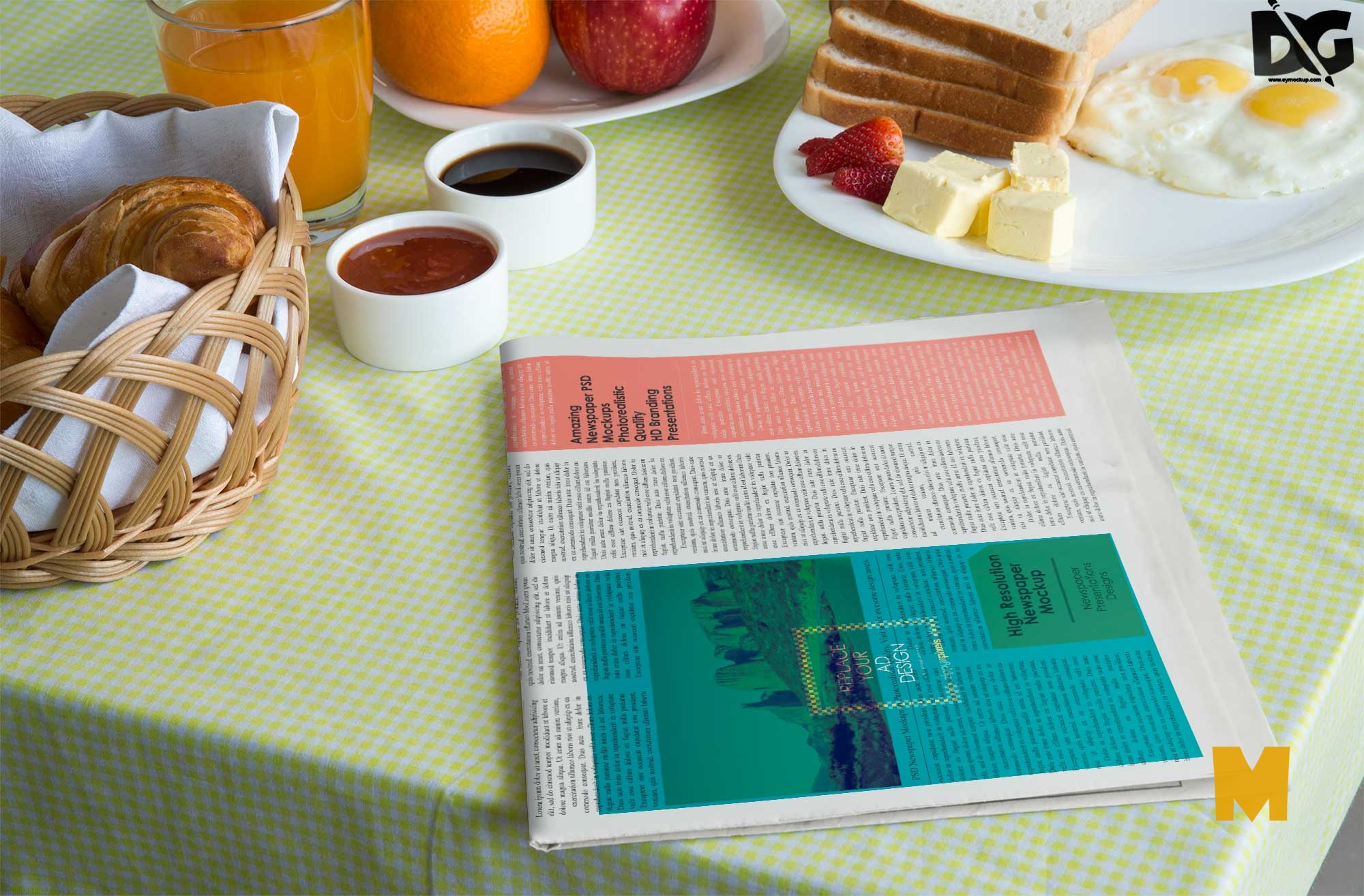 Newspaper PSD Mockups