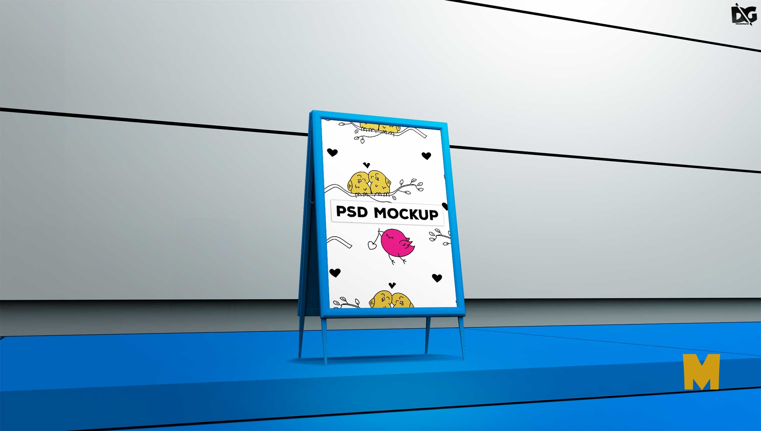 Free Beautiful tent Poster Mockup