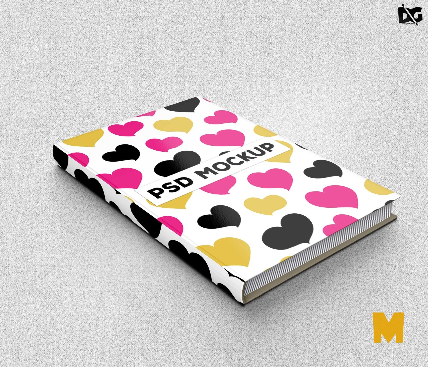 Free Download Hardbook Cover Mockup