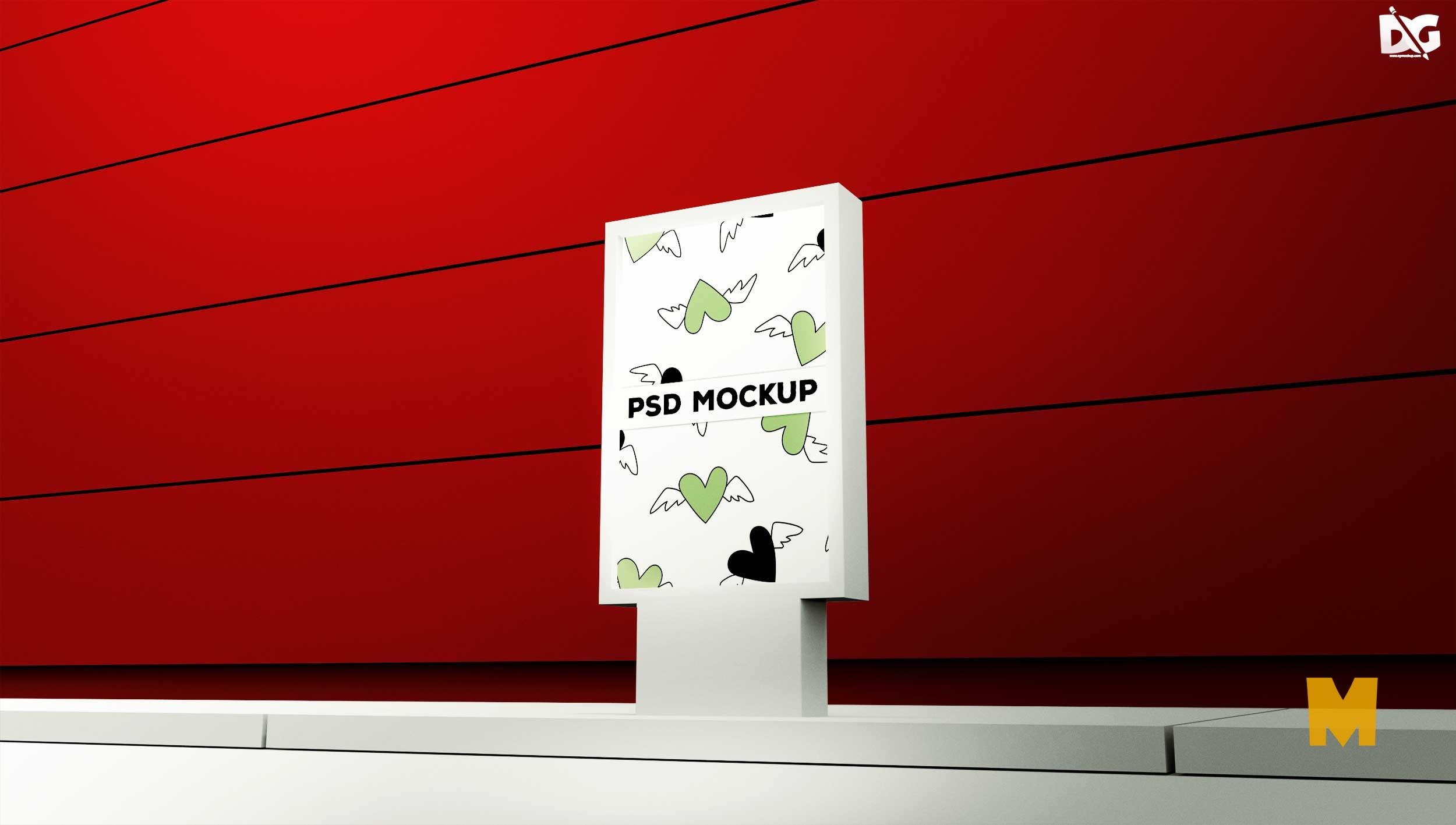 Free Outdoor Advertisment Branding Mockup