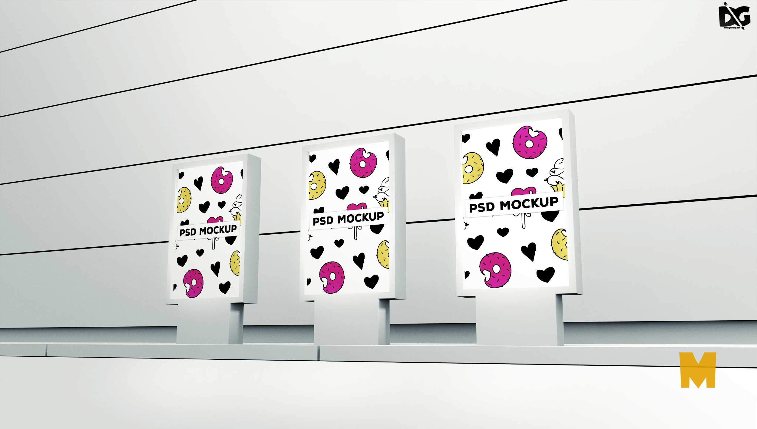 hoarding mockup psd free download