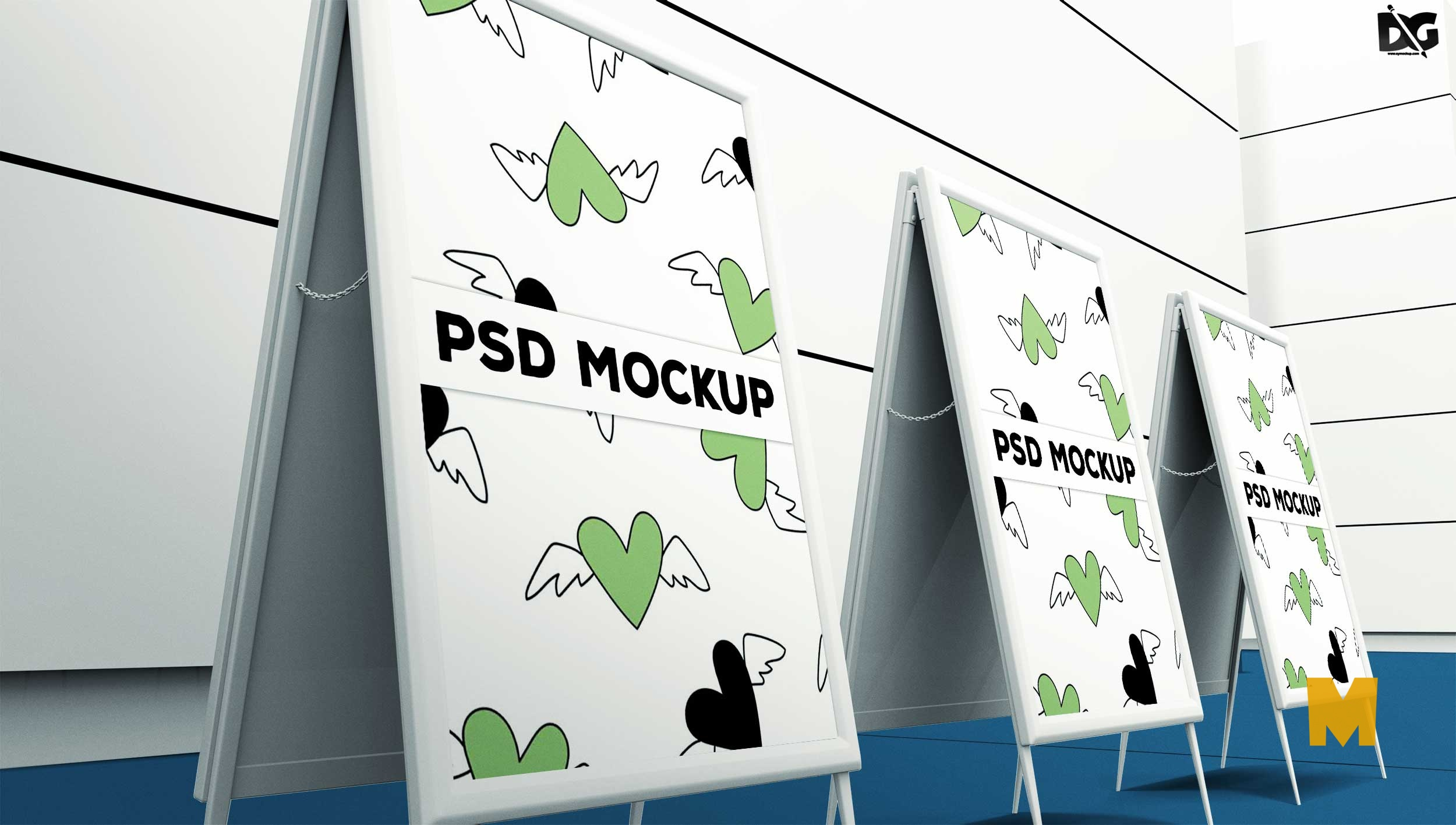 Free Banner Standing Mockup