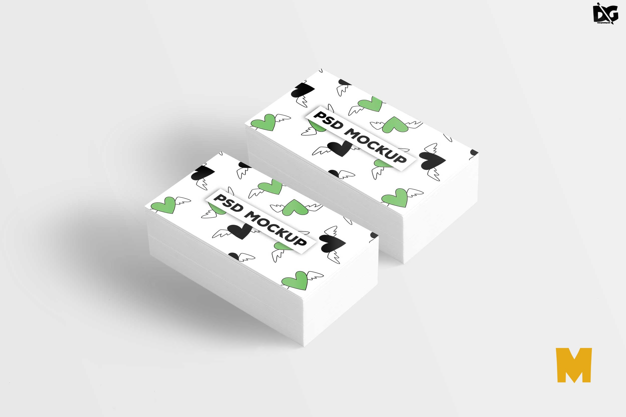 Free Clean Business Card Mockup