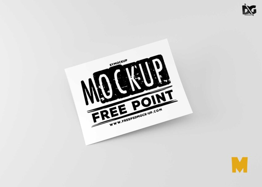 Free Business landscape flyer mockup