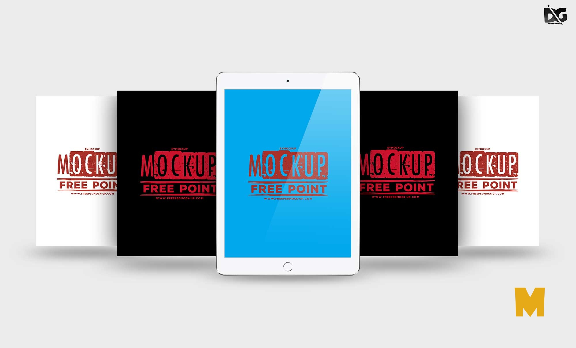Free Download ipad landscape mockup