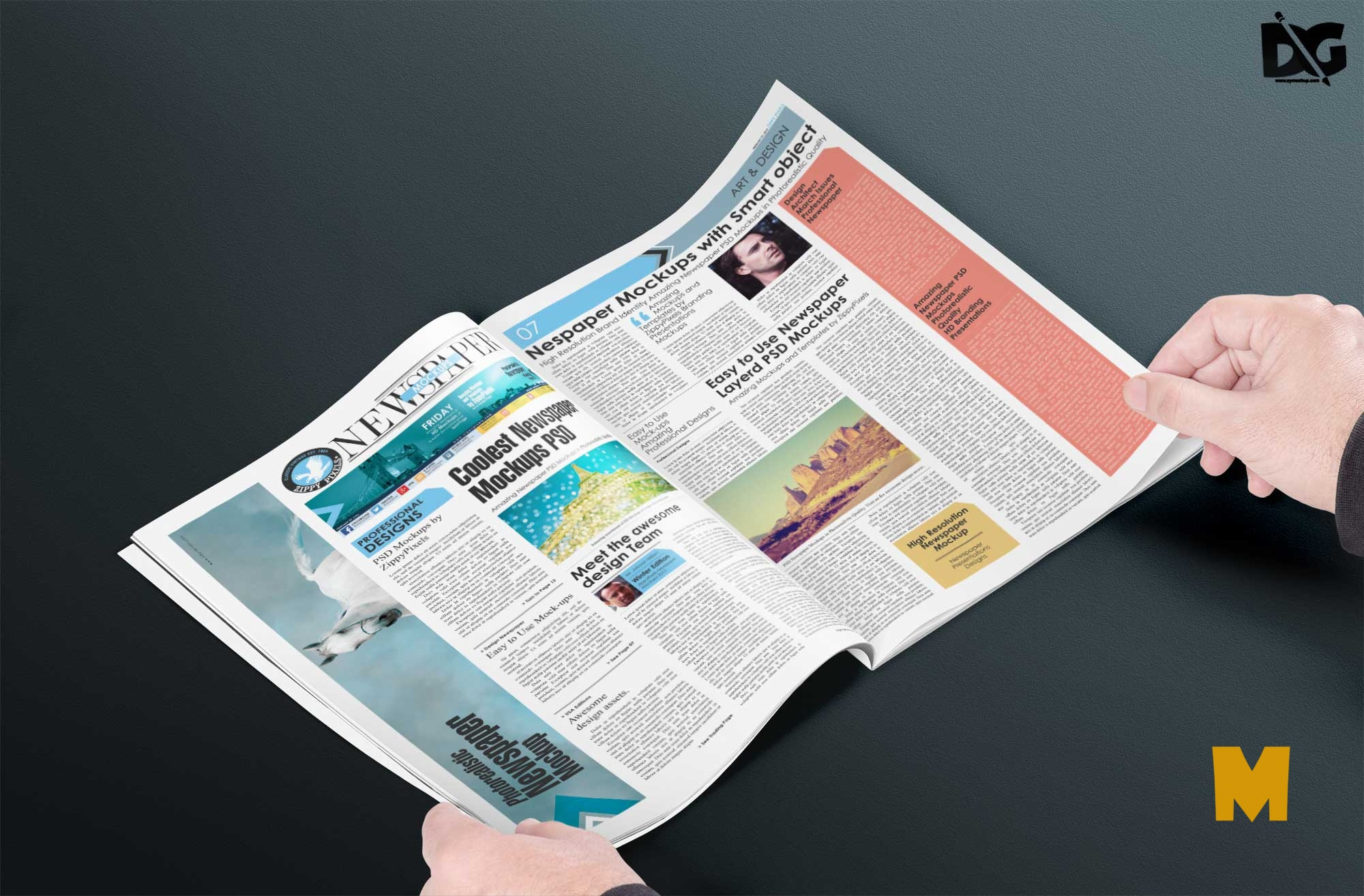 Free Business Newspaper Mockup