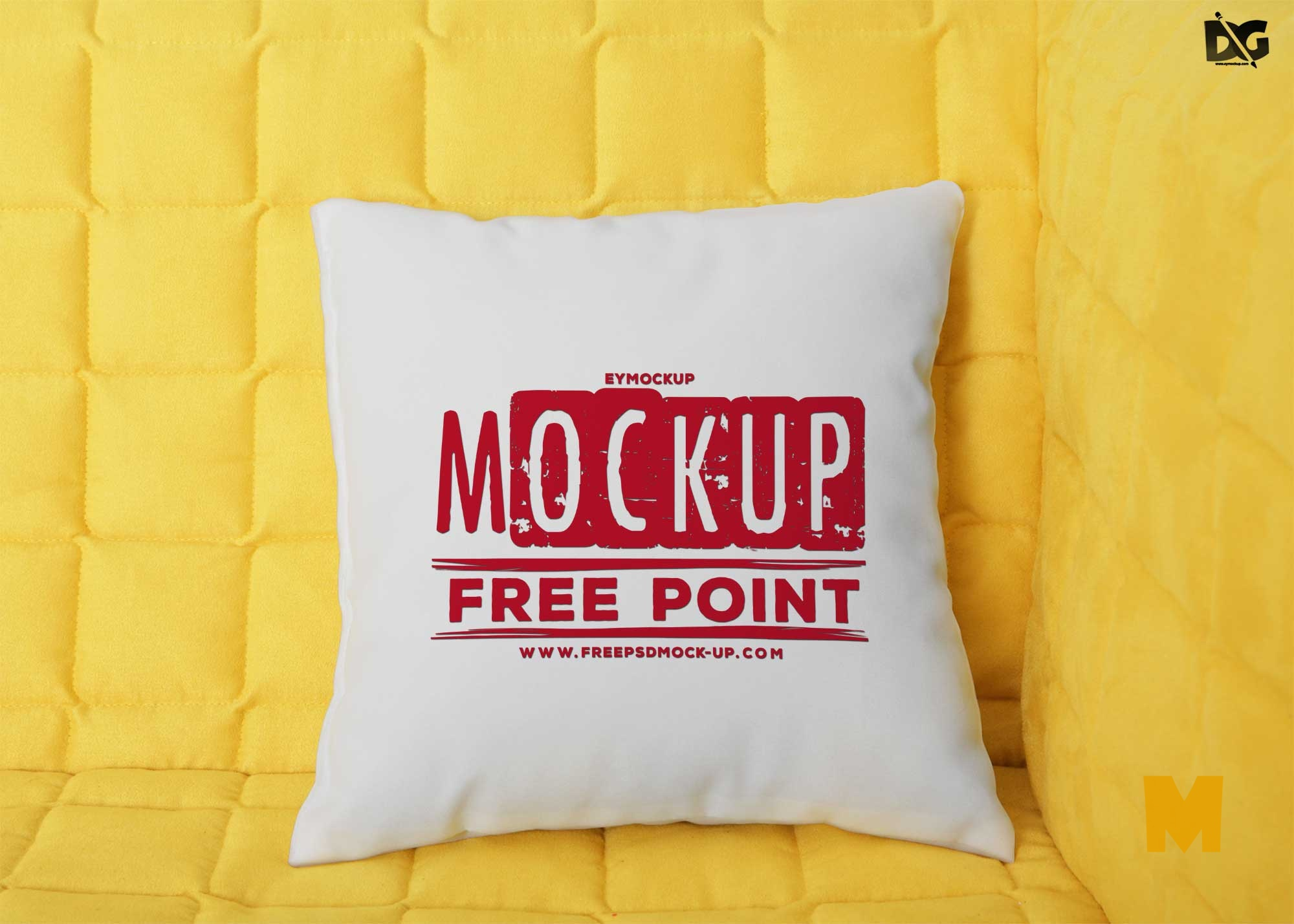 Free Soft Pillow Mockup