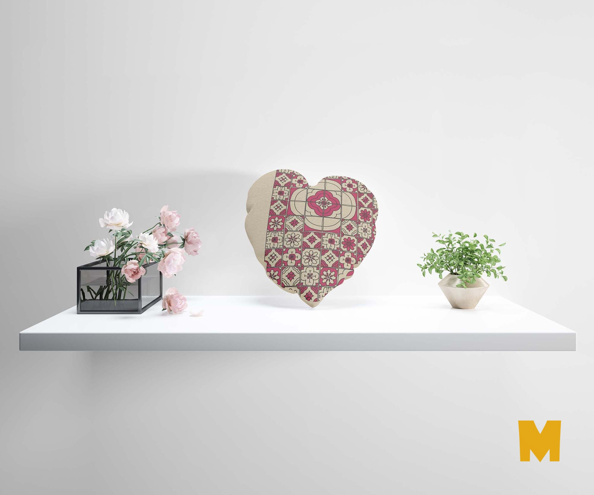 Heart Pillow Mockup