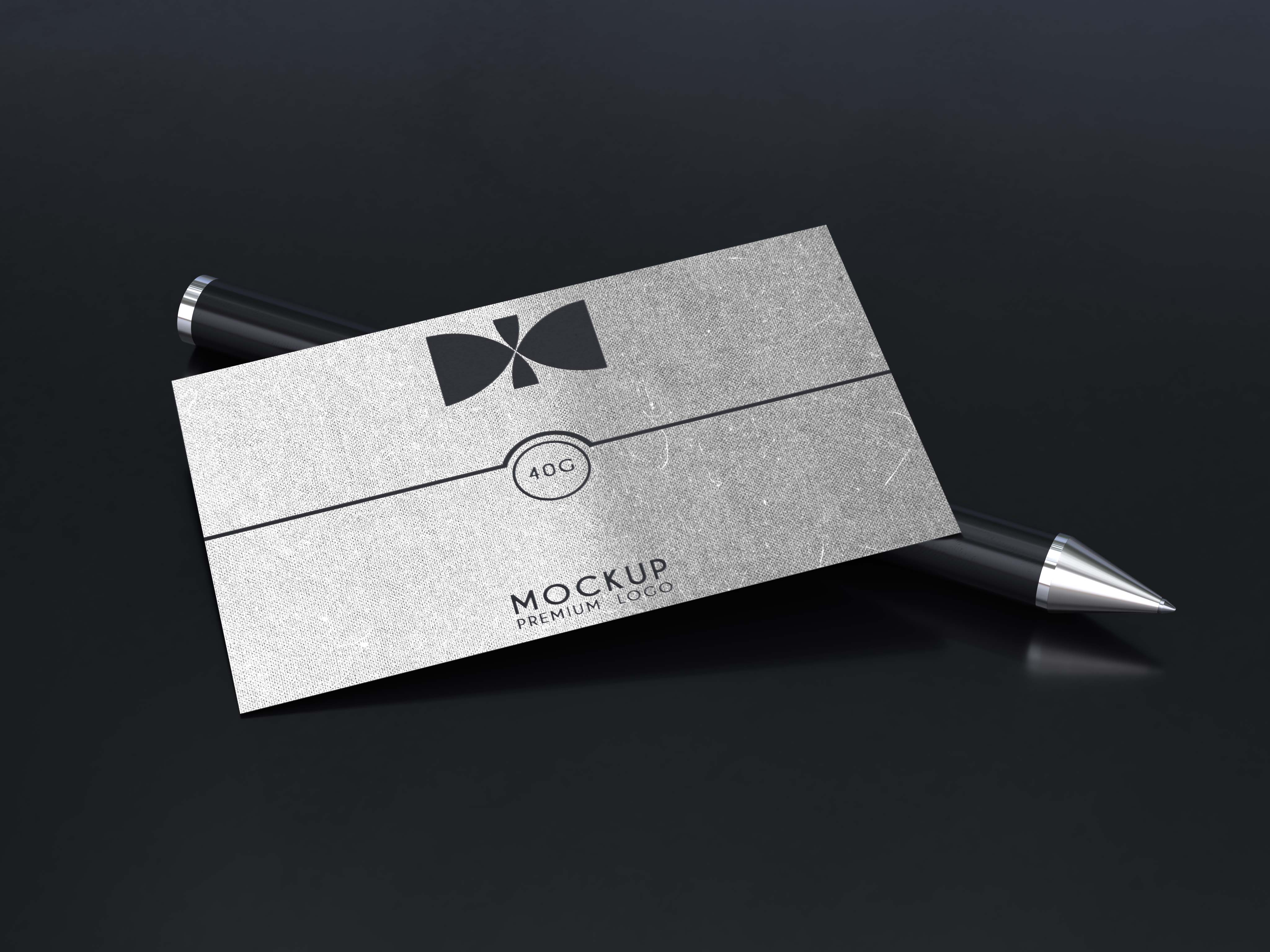 Free Business Card Pen Mockup 2018