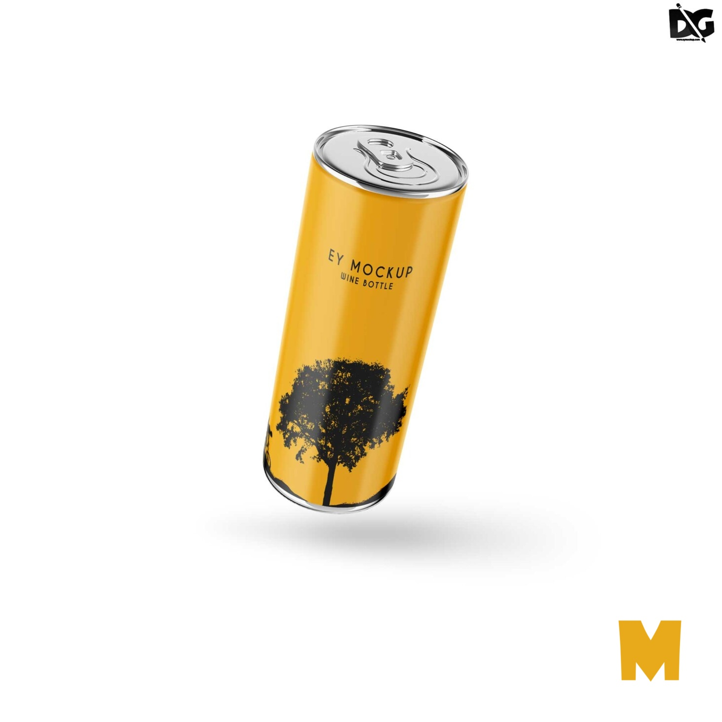 Free Drink Can Mock-up