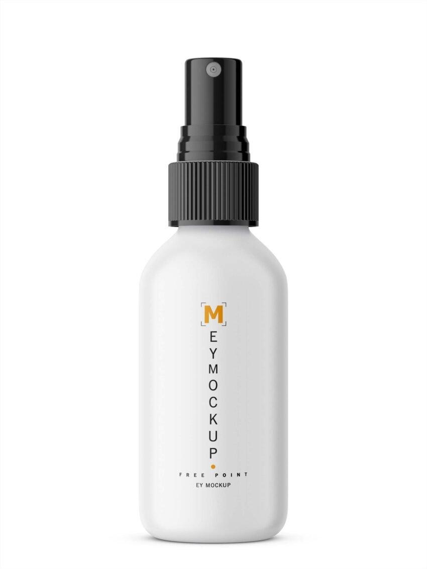 Free Clean Spray Bottle Label Mockup