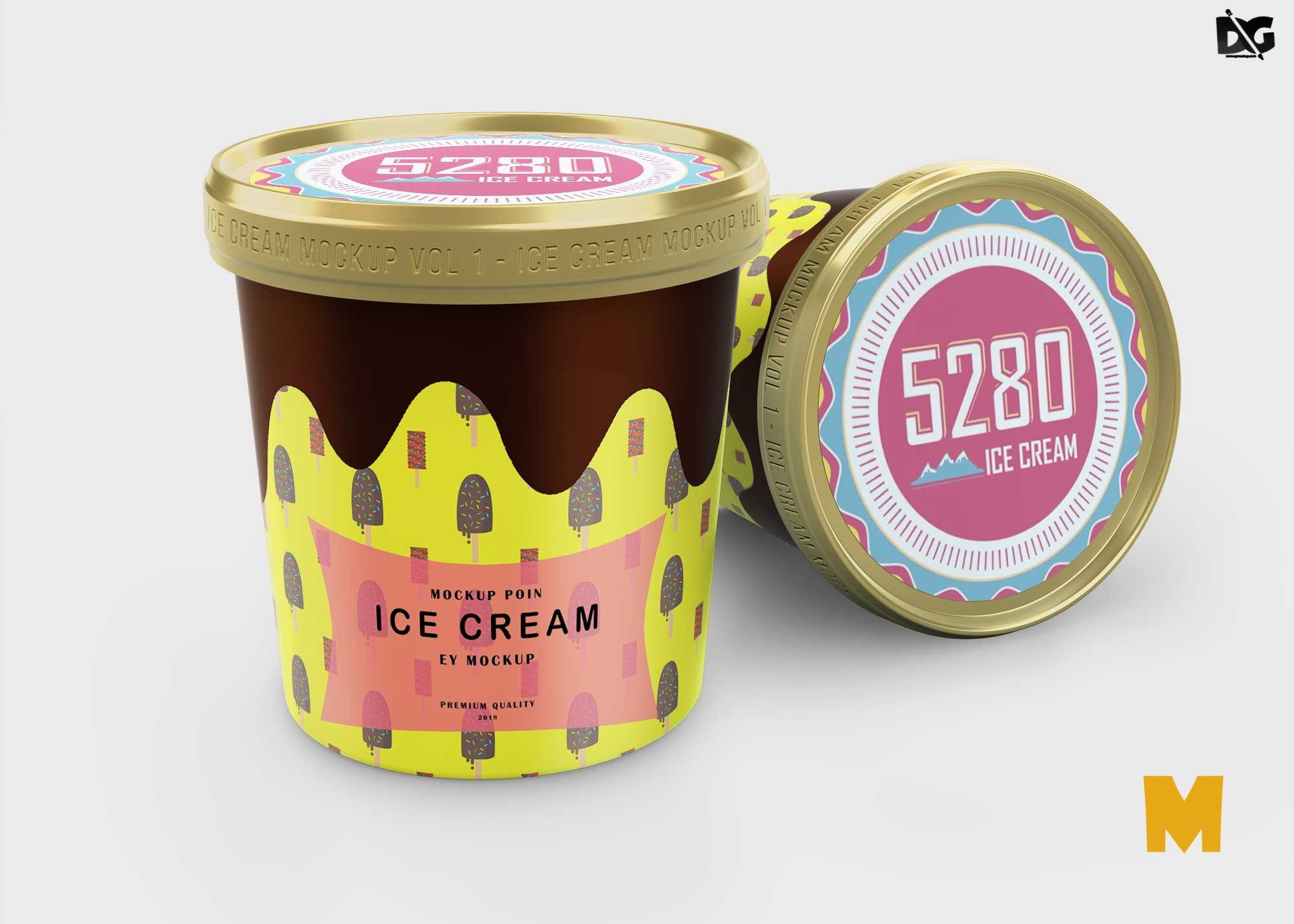 Icecream Tub Mockup