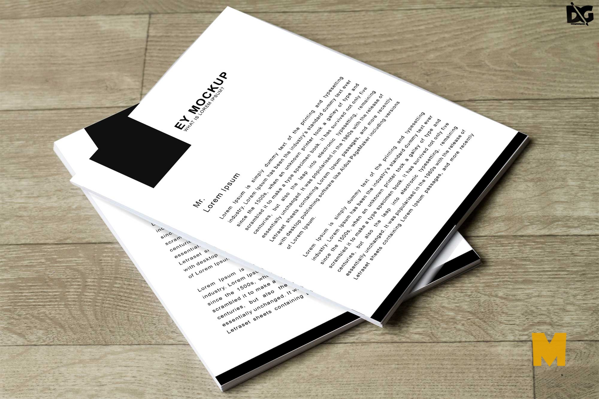 Free Company Letterhead Mockup Download