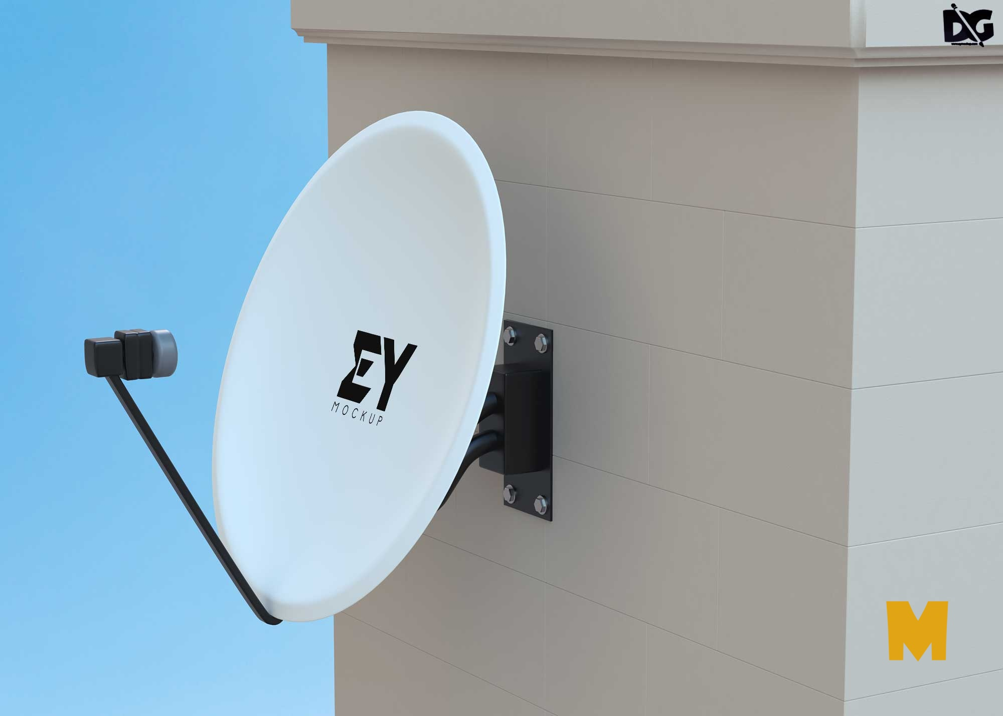 Free Dish Tv Artwork Mockup