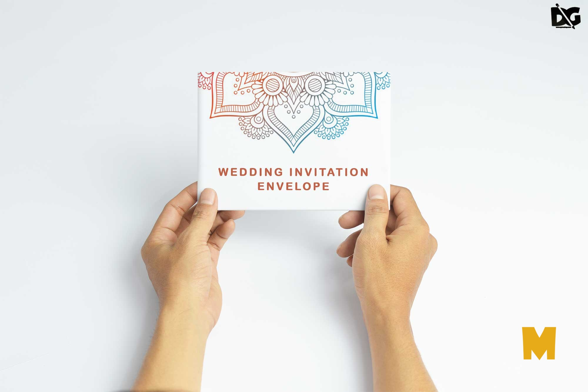 Free Card Envelope Mockup