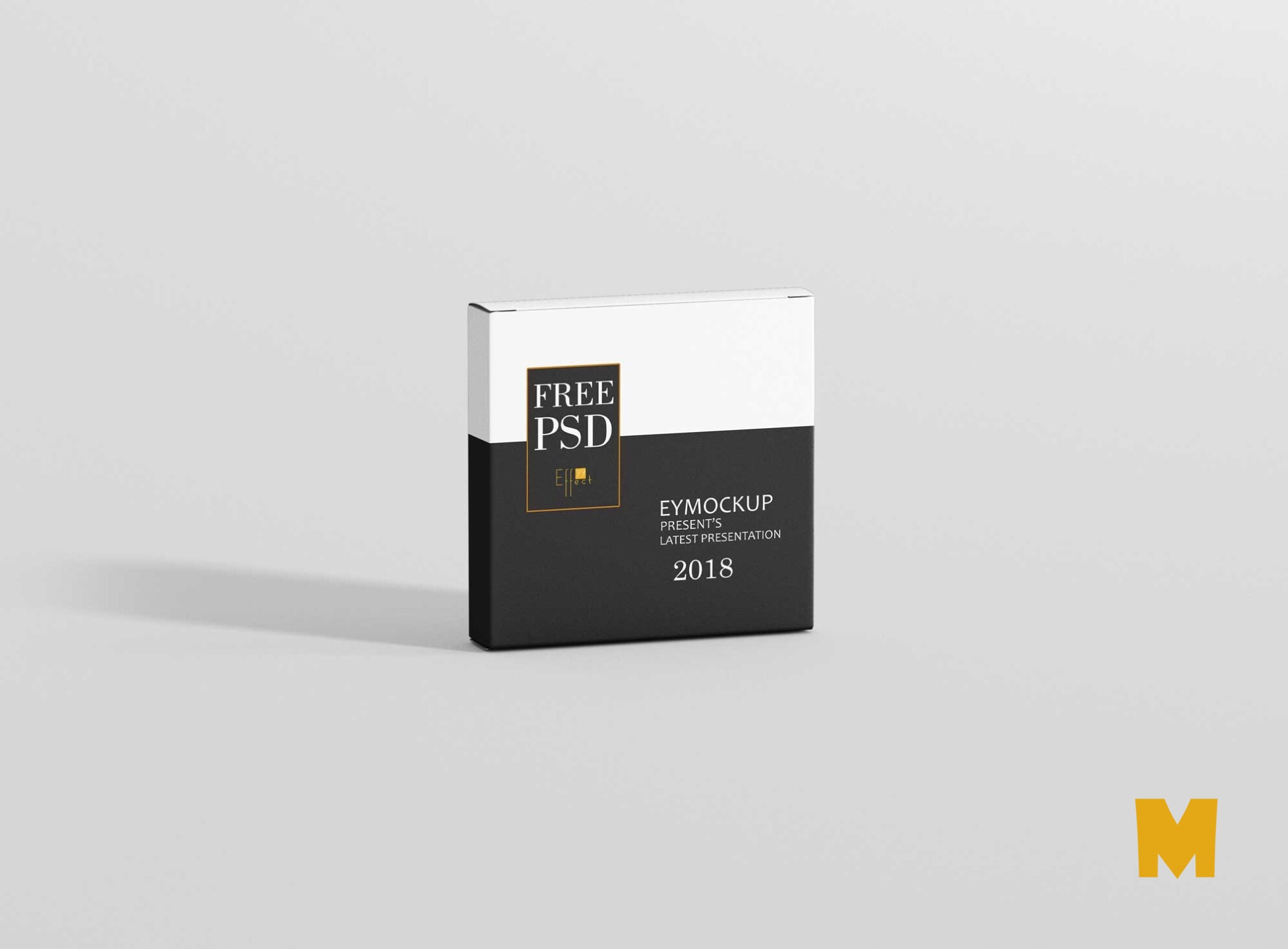 CD Box Packaging Mockup
