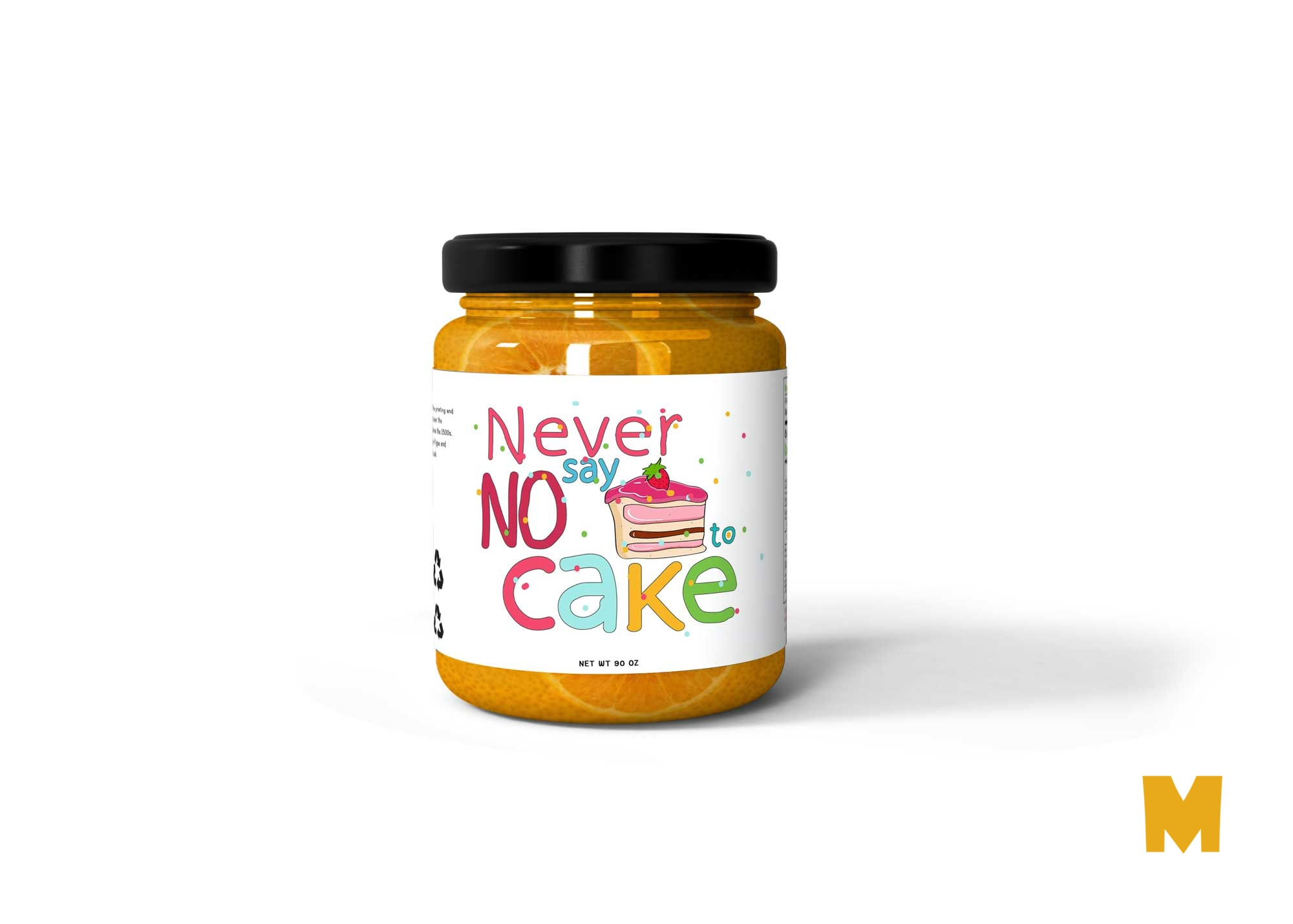 Baby Food Jar Bottle Label Mockup