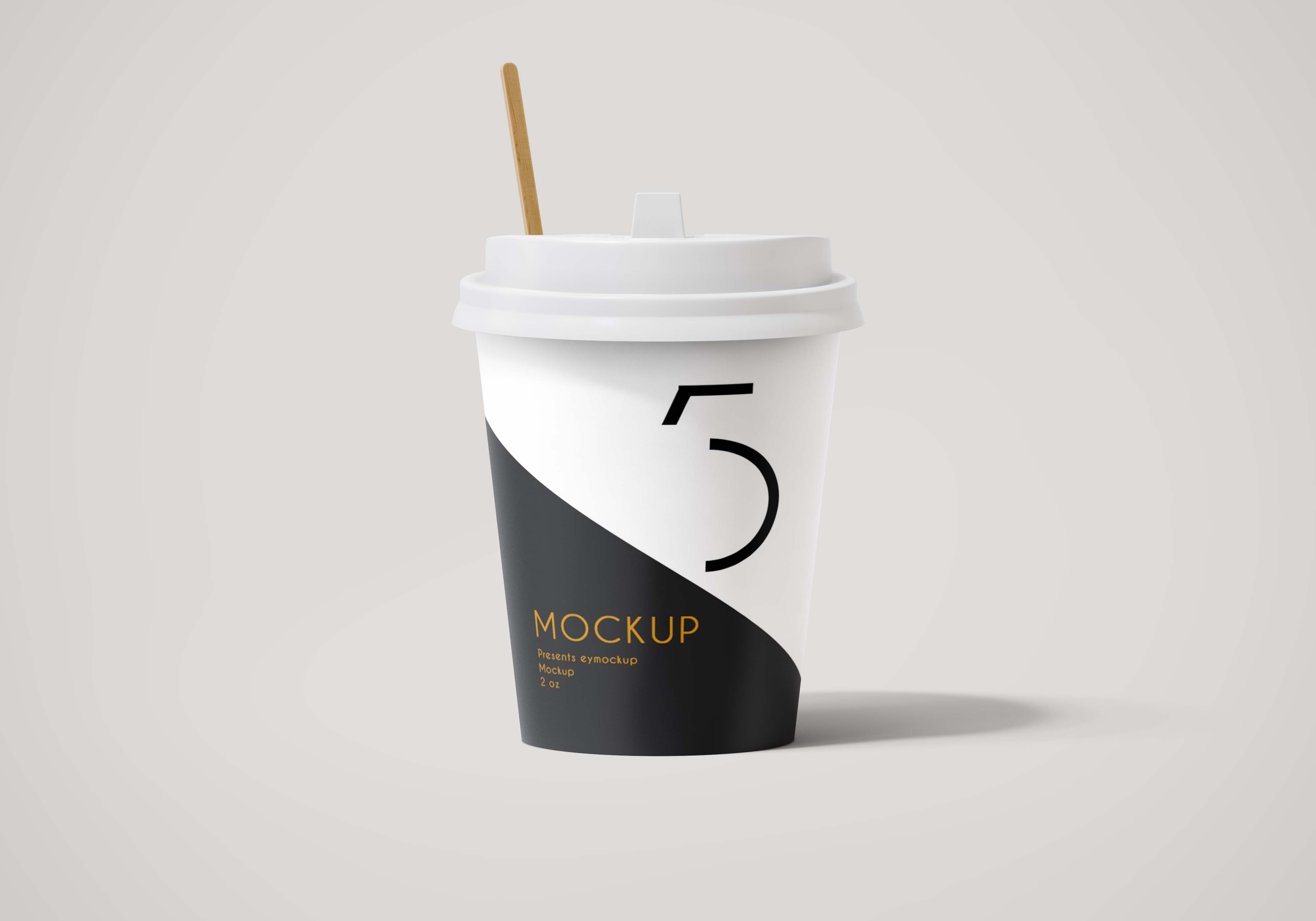 Beautiful Coffee Glass Label Design Mockup