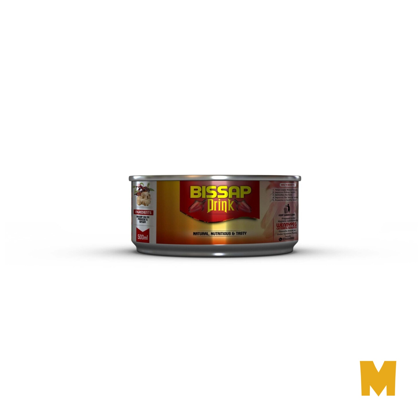 Food Steel Packed Can Mockup