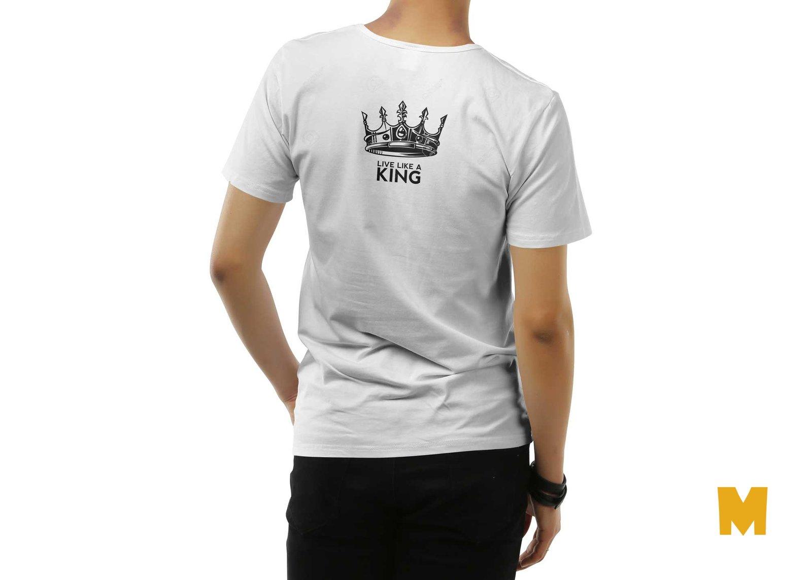 Free Back Tshirt Design Mockup