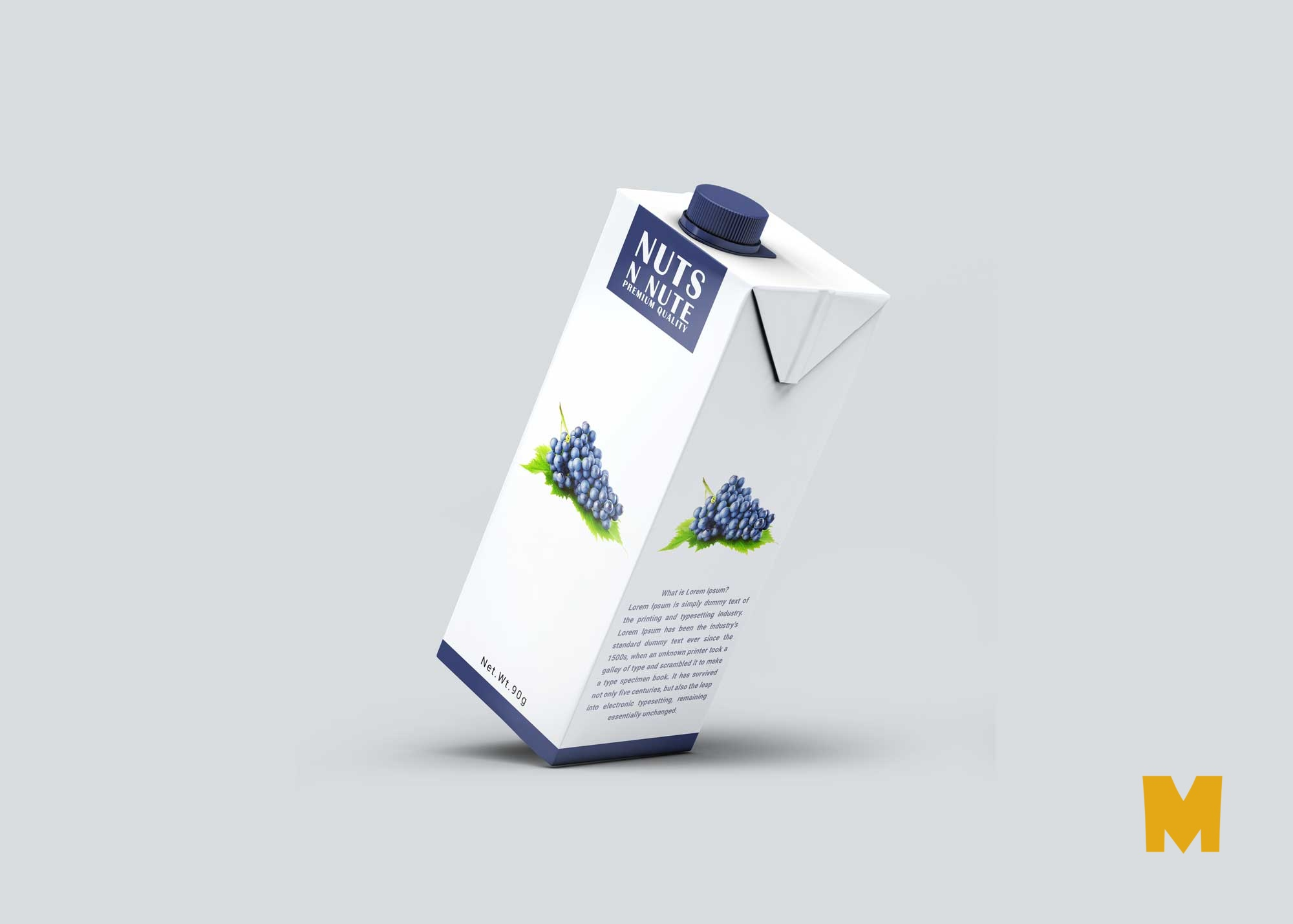 Carton Labels Mockup