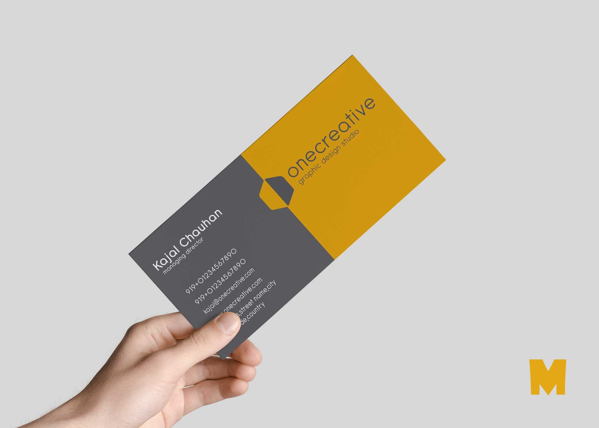 Free Business Card Design Mockup