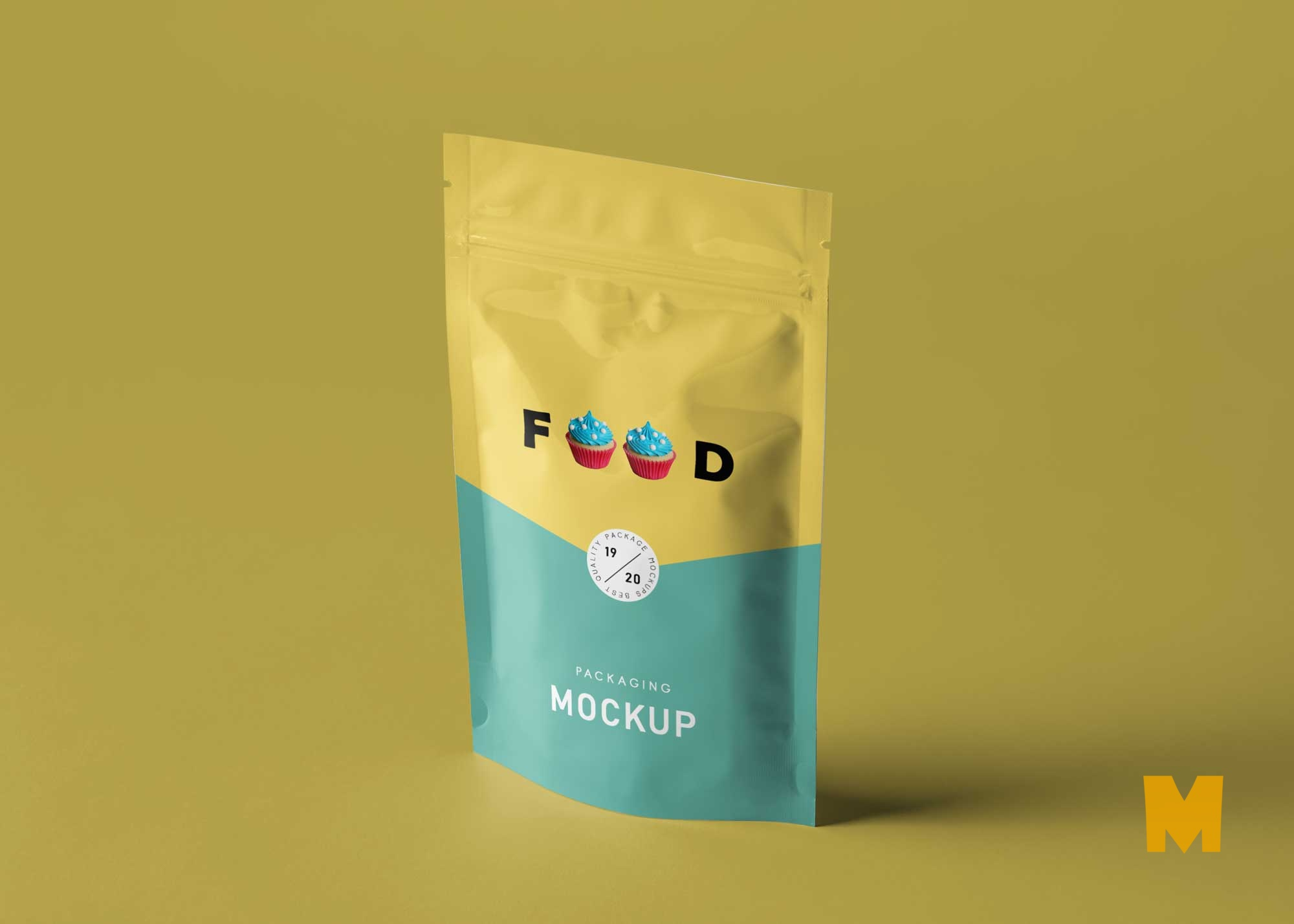 Free Food Pouch Label Mockup