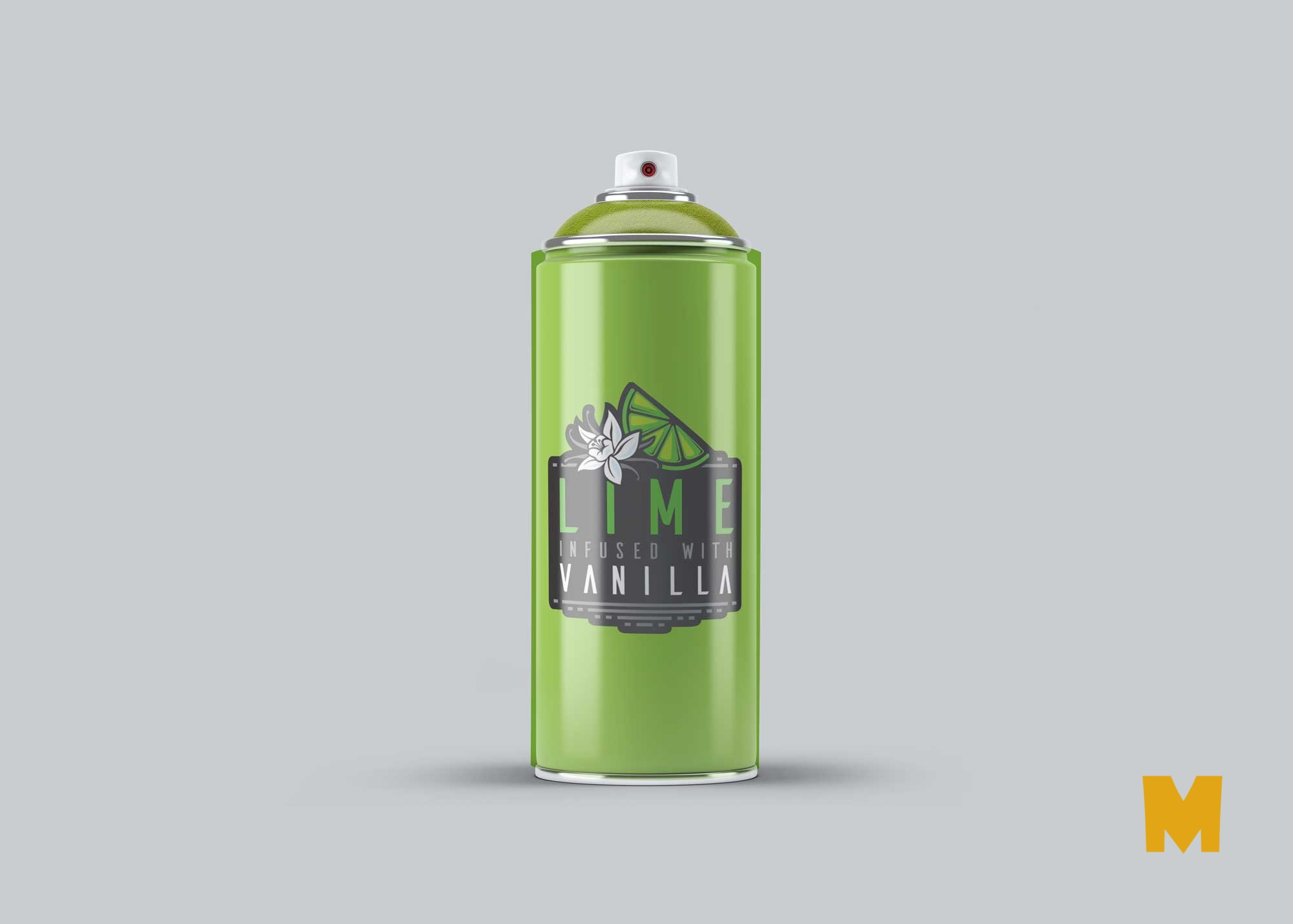 Free Green Paint Spray Bottle Mockup