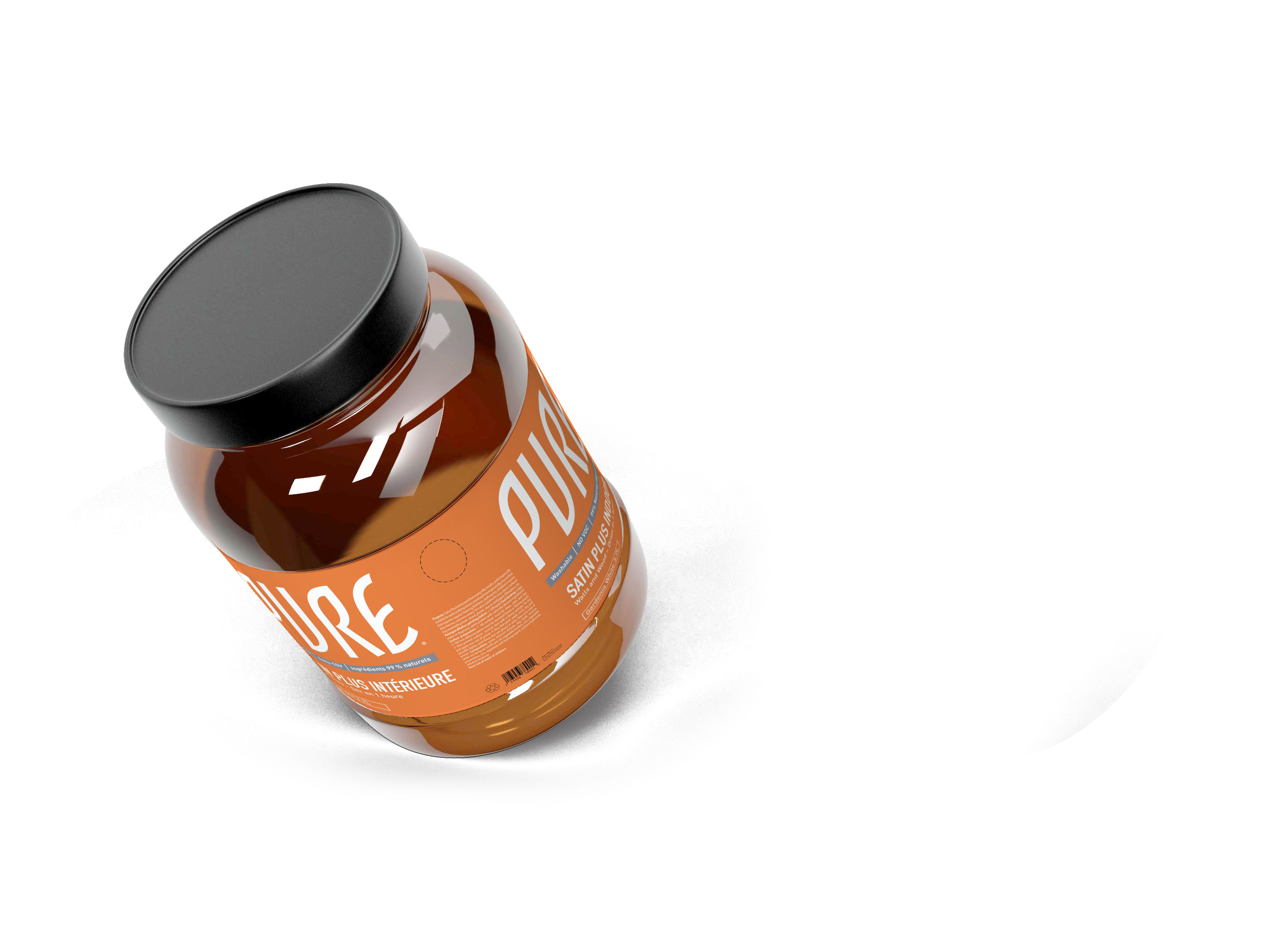 Free Honey Sugar Label Mockup
