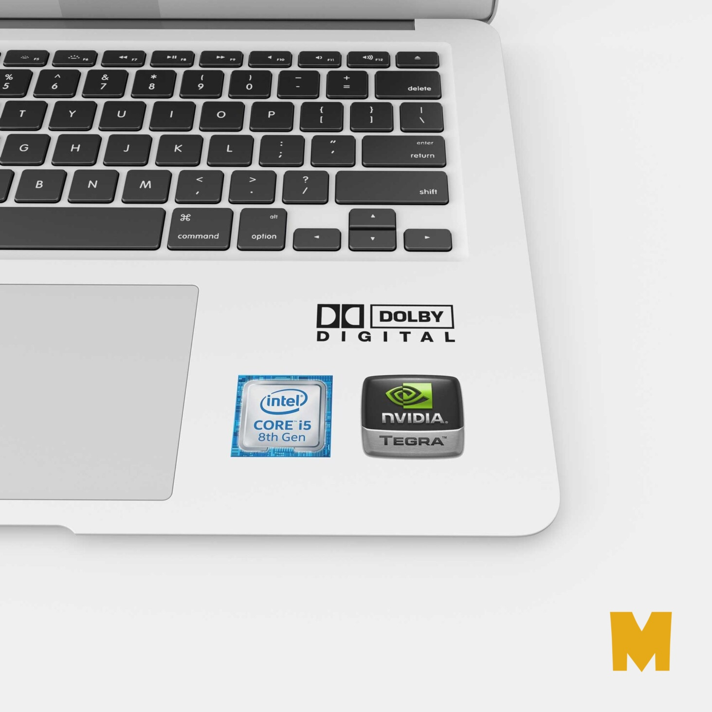 Free Intel Laptop Label Mockup