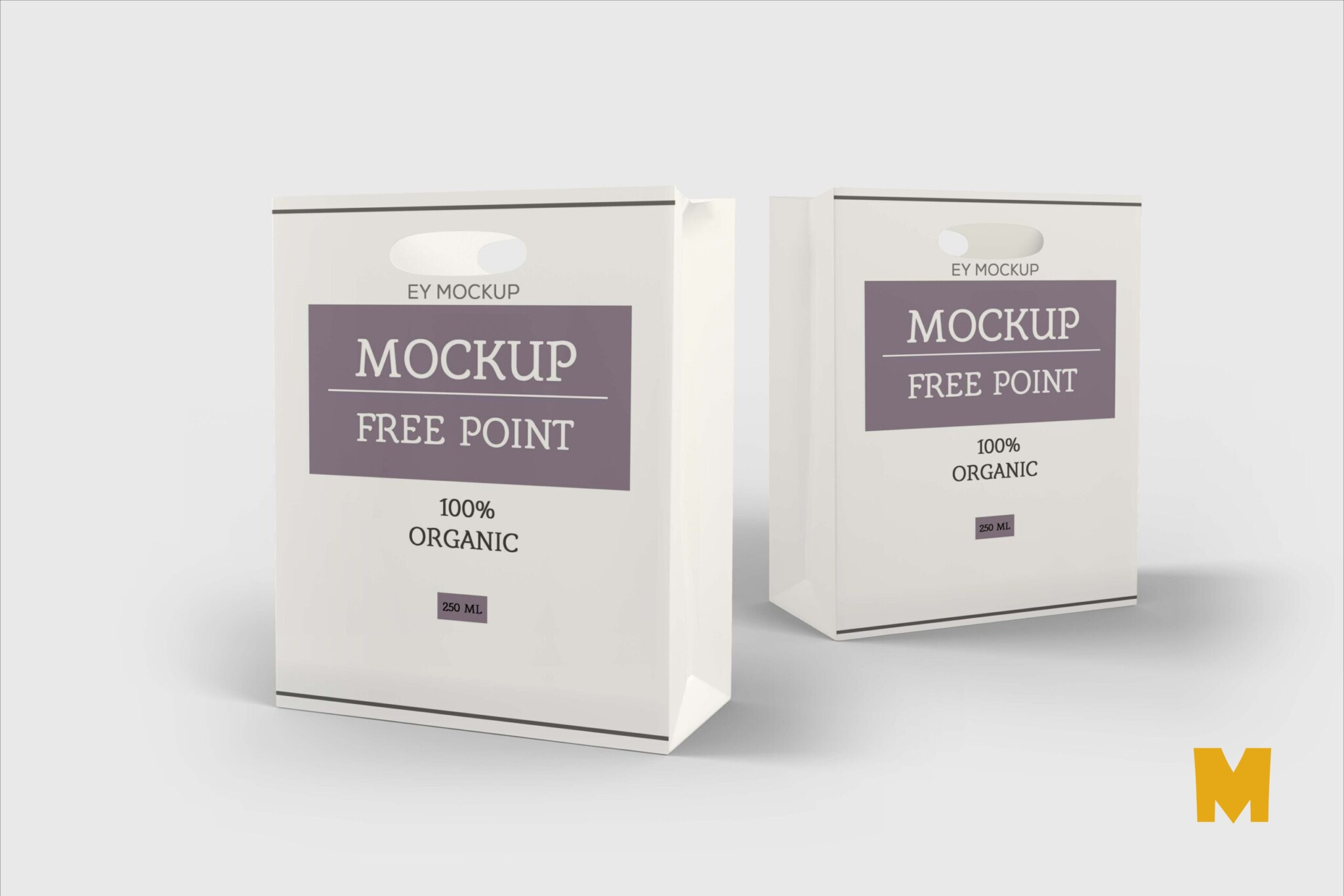 Free Paper Cut Shopping Bag Mockup