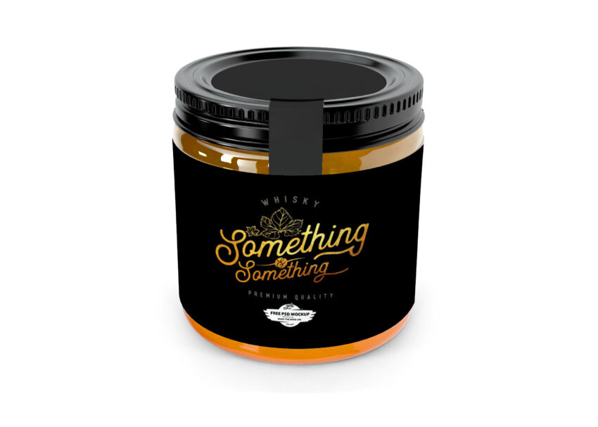 Free Small Honey Bottle Label Mockup
