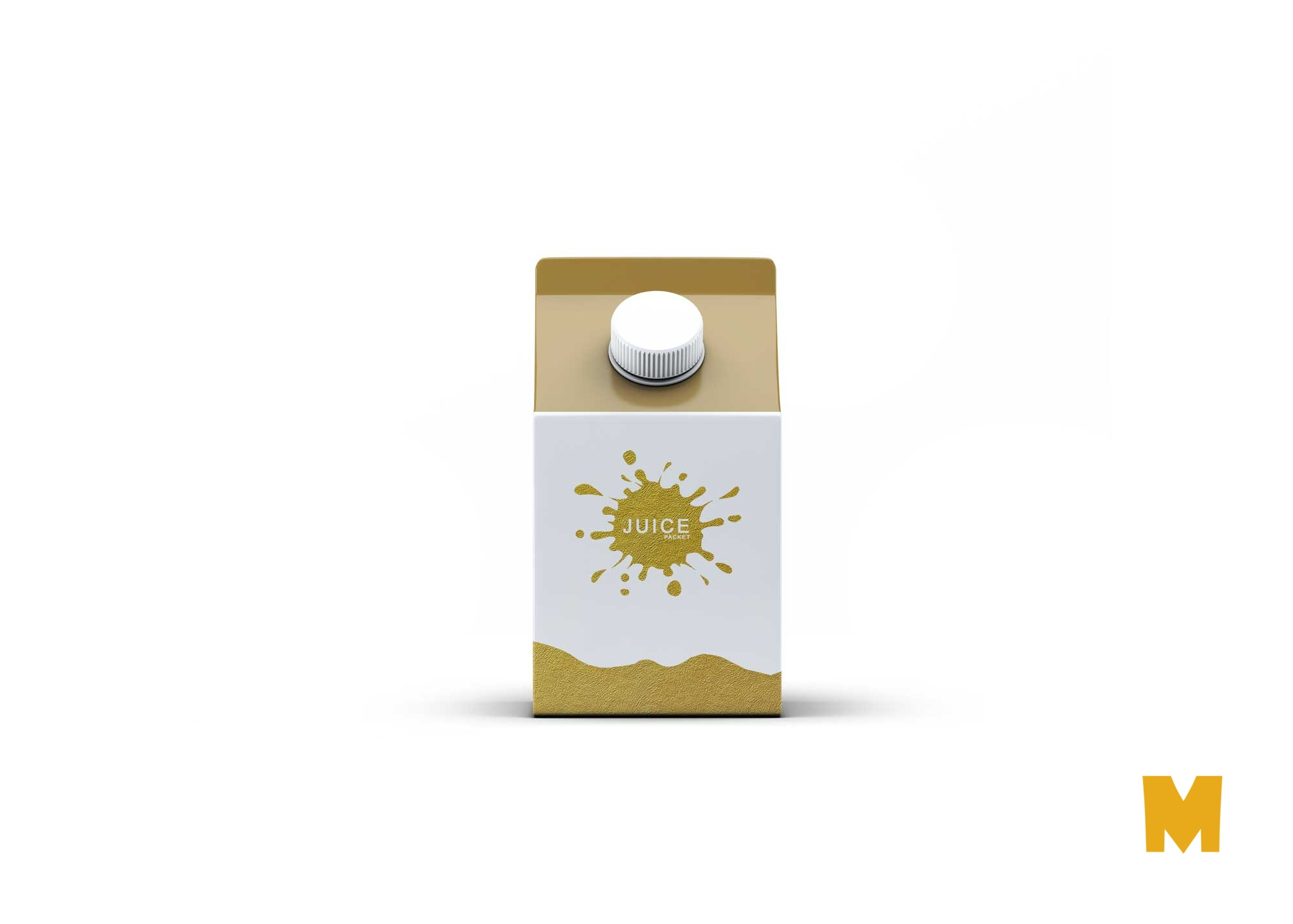 Free Small Milk Carton Packet Mockup