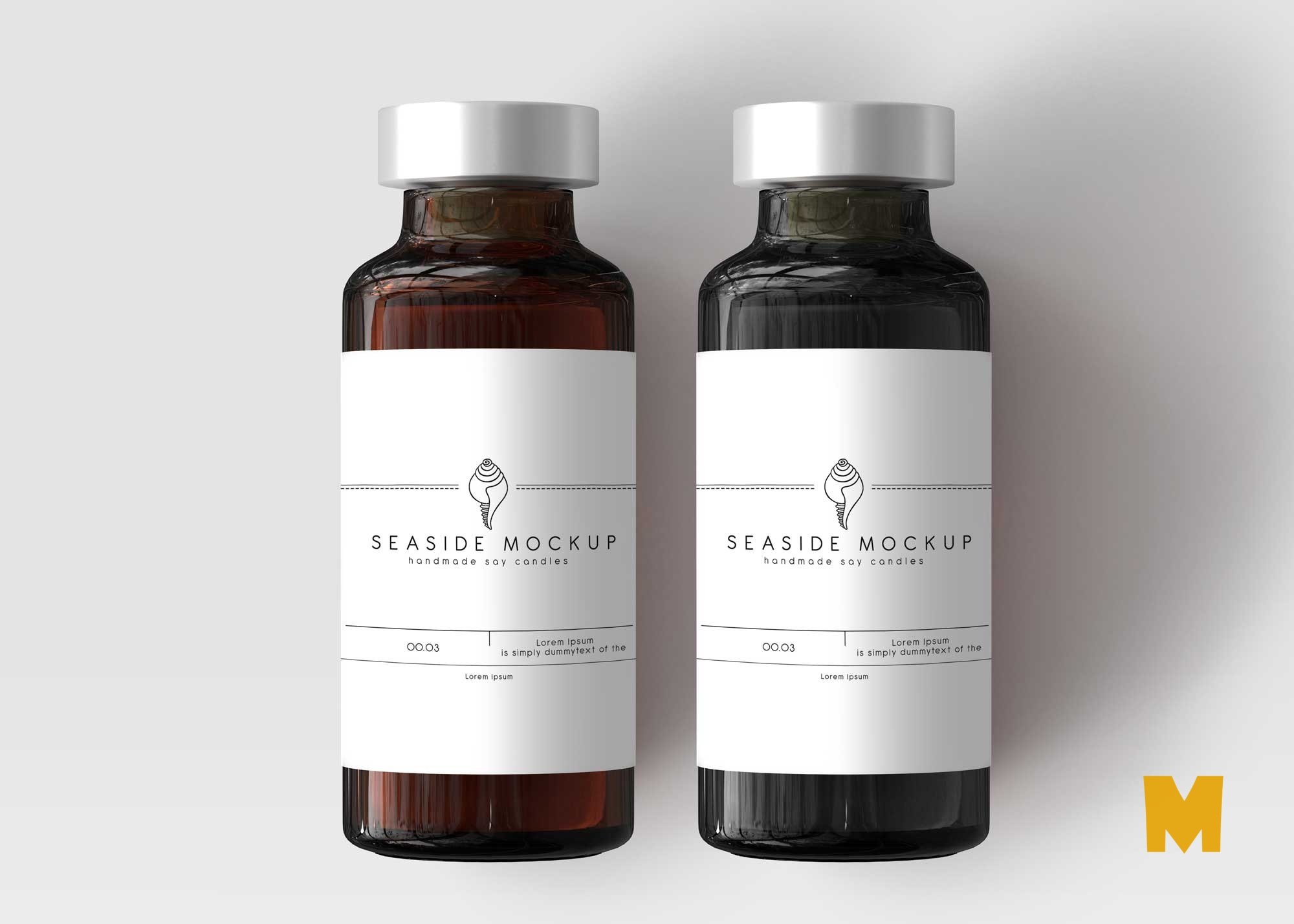 Free Syrup Bottle Label Mockup