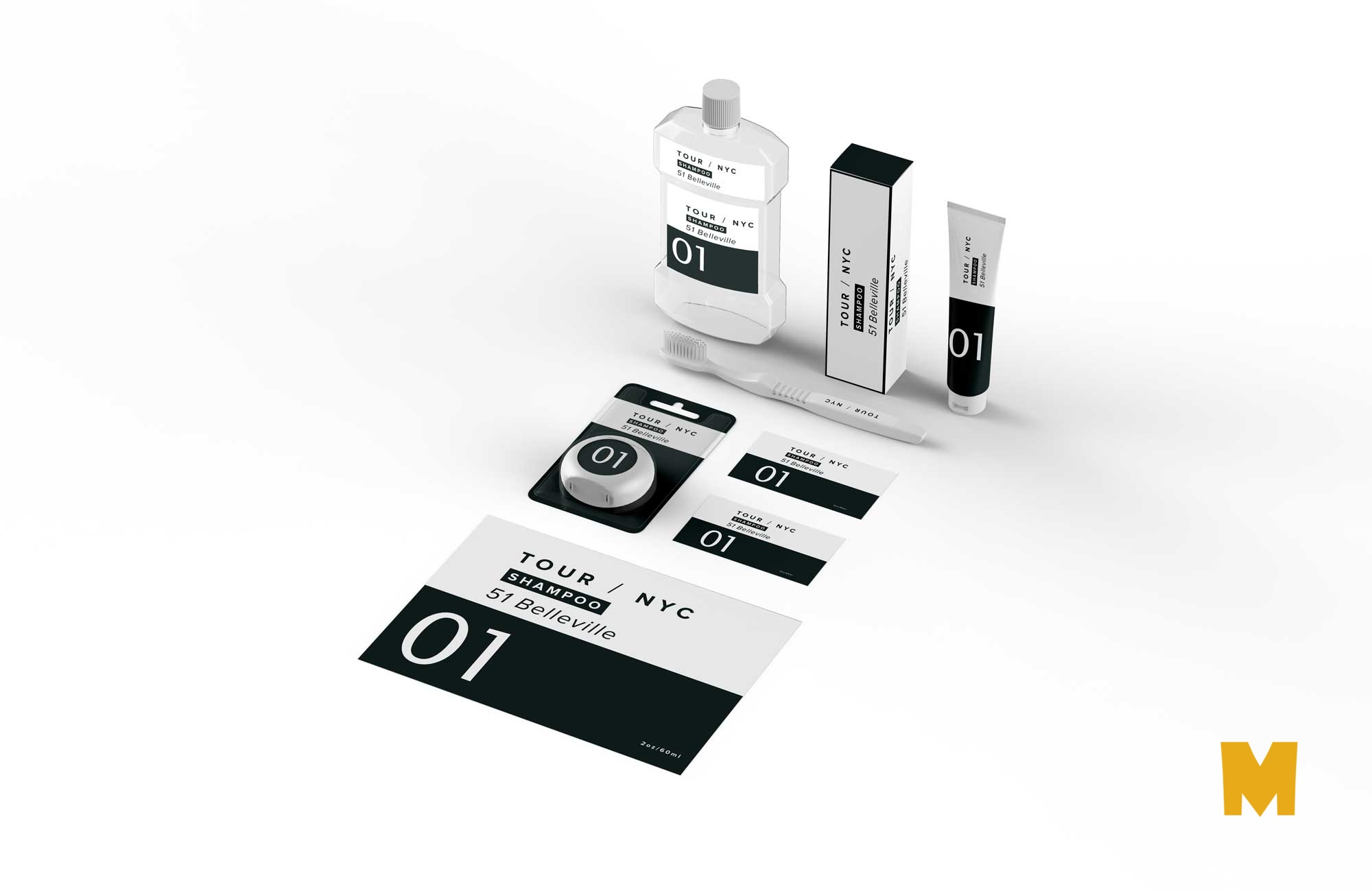 Free Tooth Glycerin Packaging Mockup