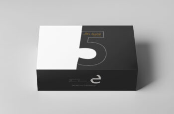 Premium Carton Box Packaging Mockup