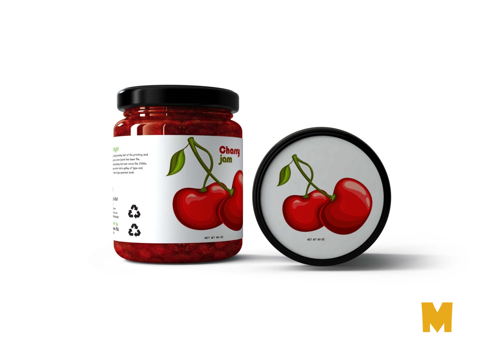Premium Jelly Jar Mockup