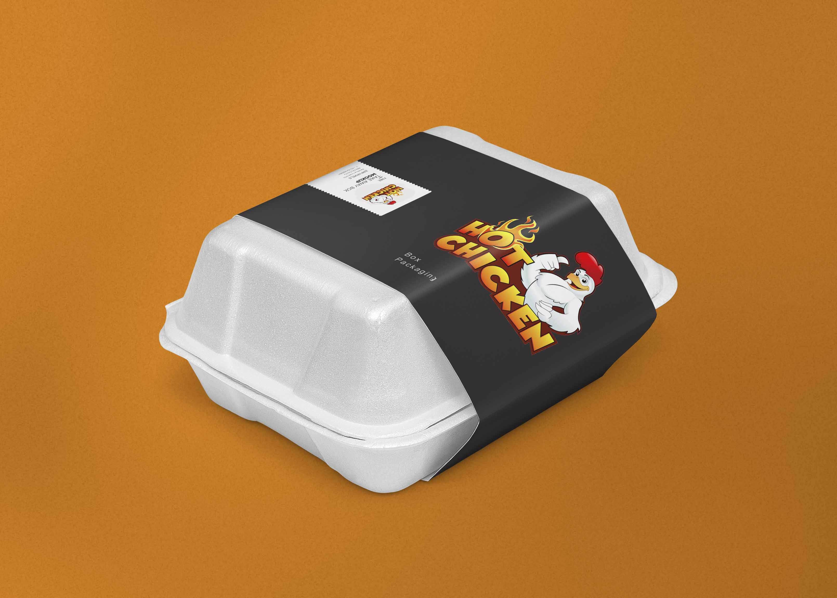 Food Packaging Box Label Mockup