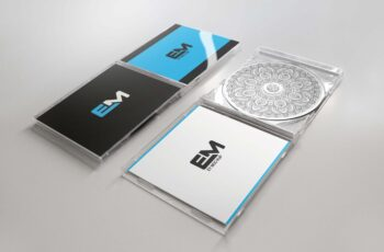 Free CD Cover Mockup Presentation